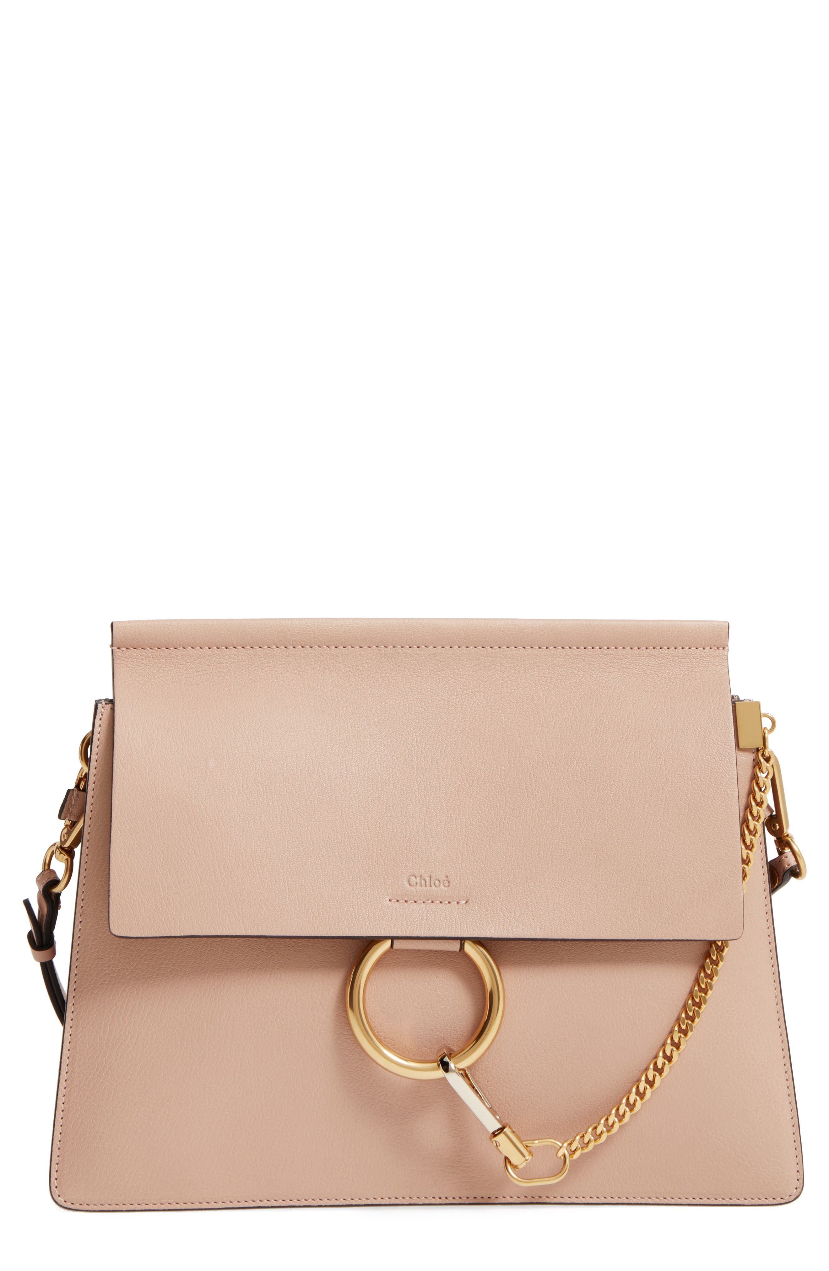 Main Image - Chloé Faye Goatskin Leather Shoulder Bag