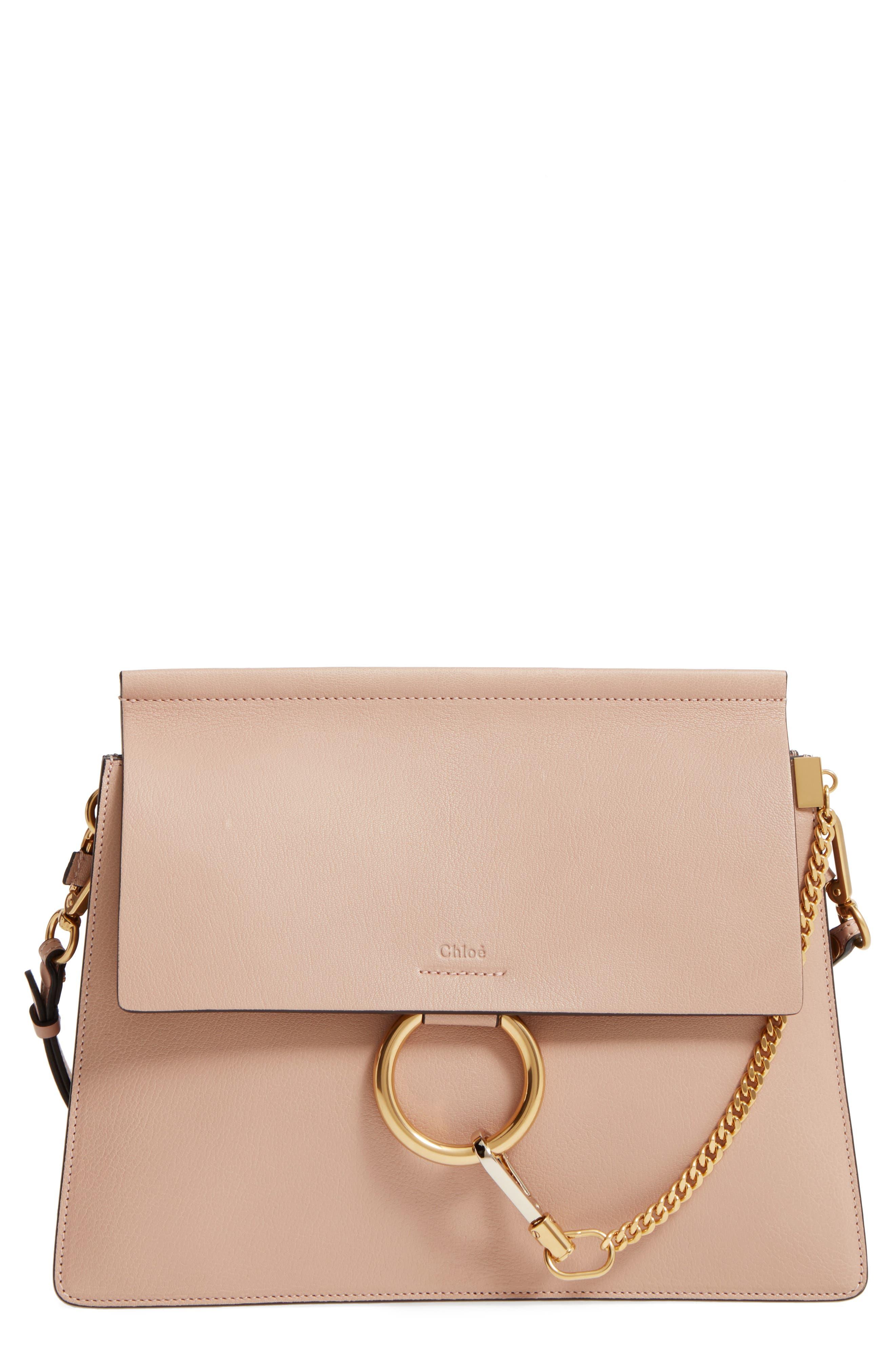 Chloé Faye Goatskin Leather Shoulder Bag