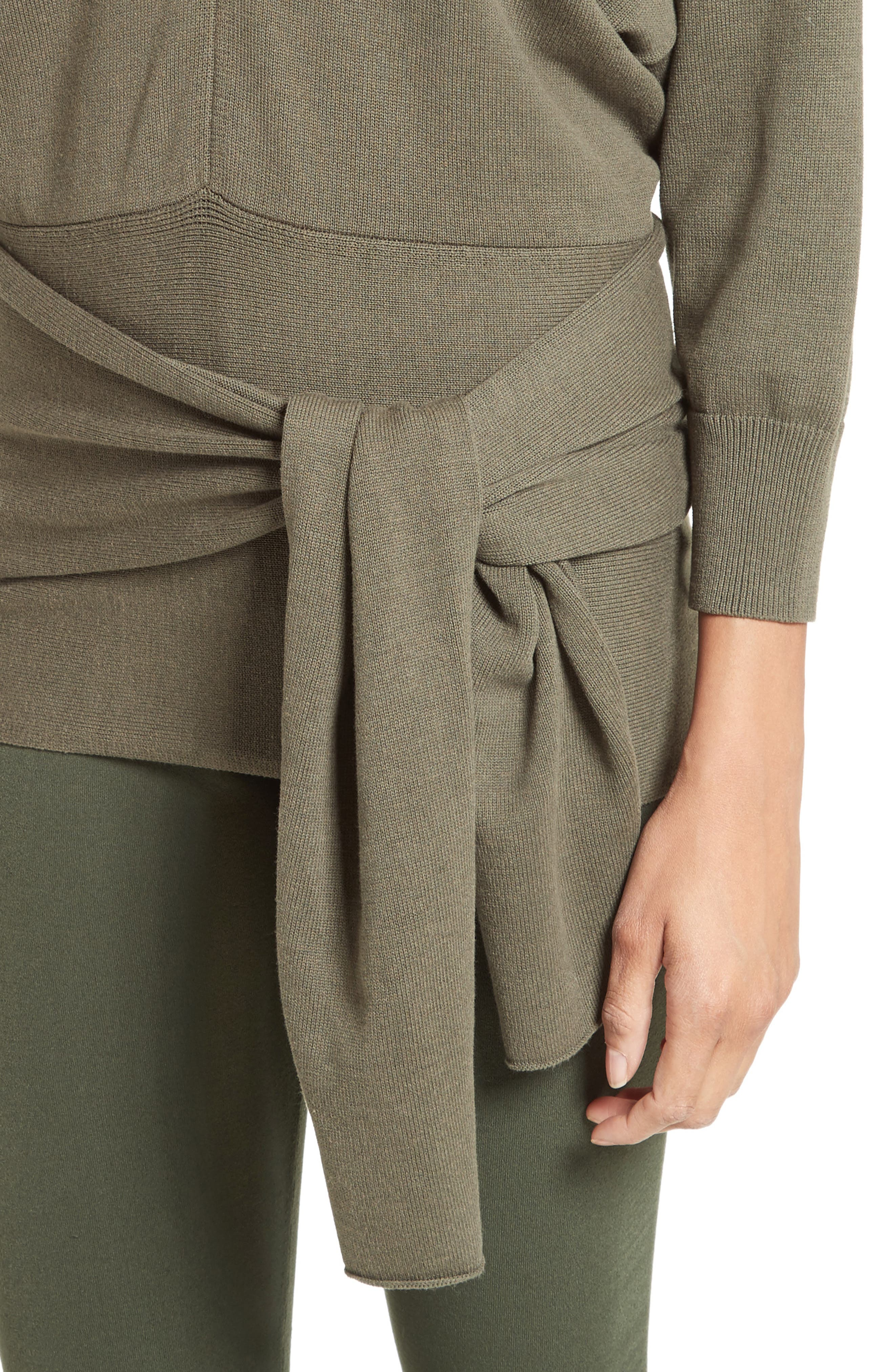 Alternate Image 5  - JOSEPH Tie Detail V-Neck Sweater