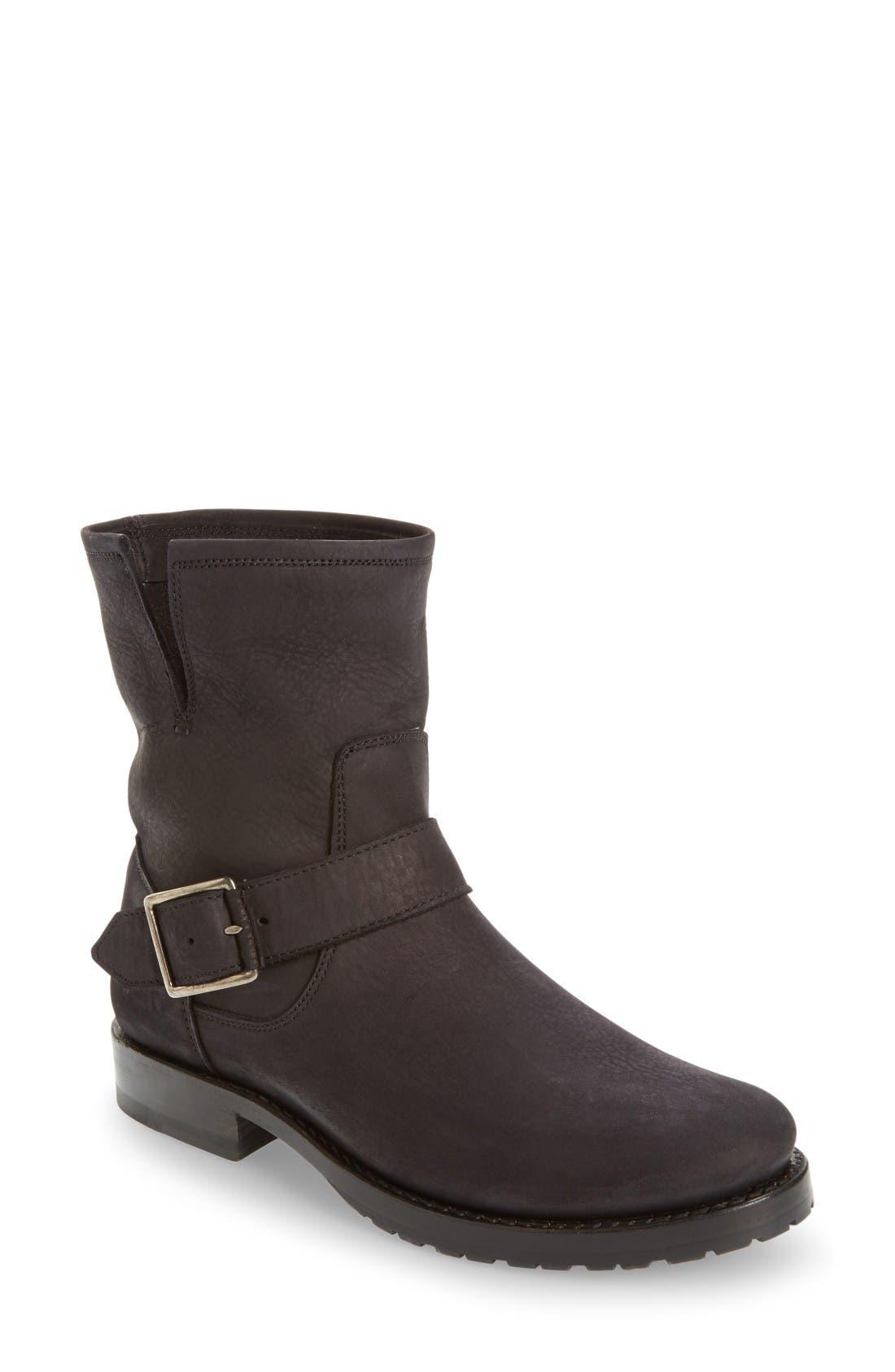 'Natalie' Engineer Boot,                             Main thumbnail 1, color,                             Black/ Black