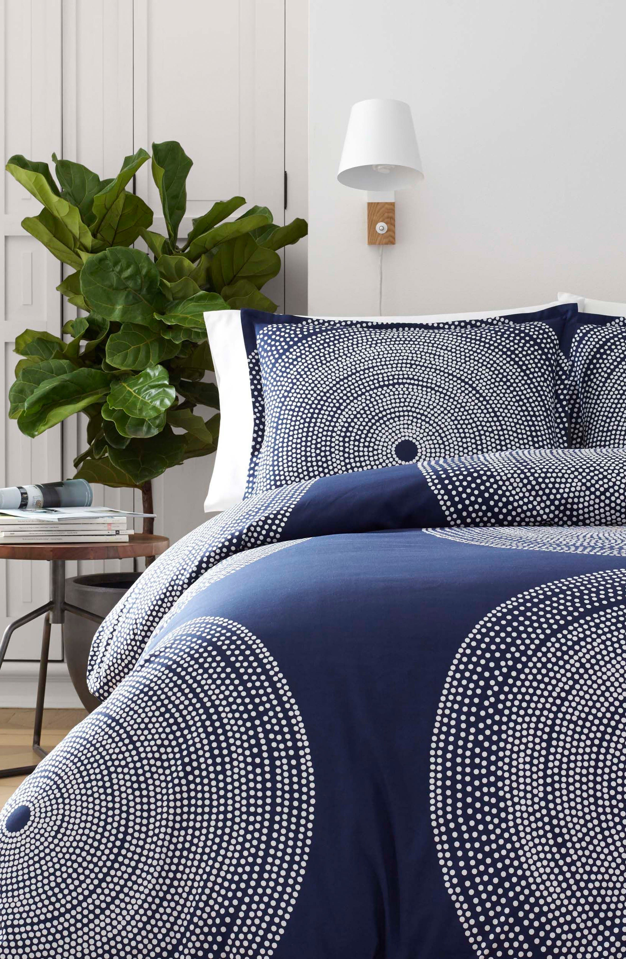 Fokus Comforter & Sham Set,                         Main,                         color, Dark Blue
