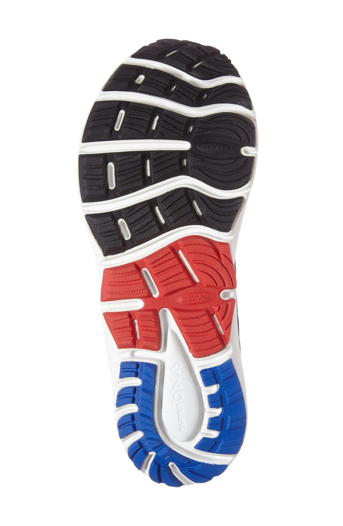 Transcend 4 Running Shoe,                             Alternate thumbnail 4, color,                             Blue/ Black/ Red