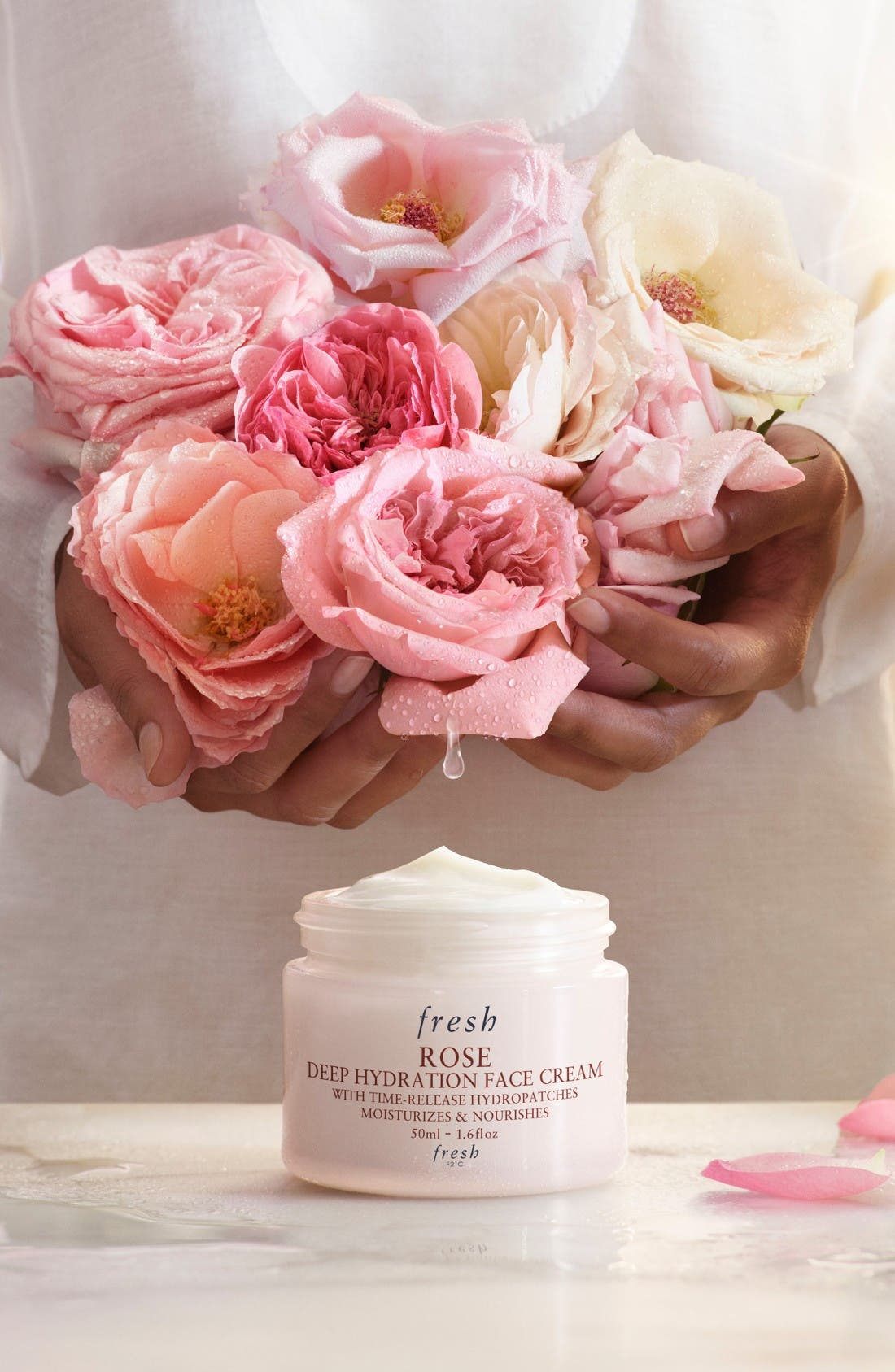 Rose Deep Hydration Face Cream,                             Alternate thumbnail 3, color,                             No Color
