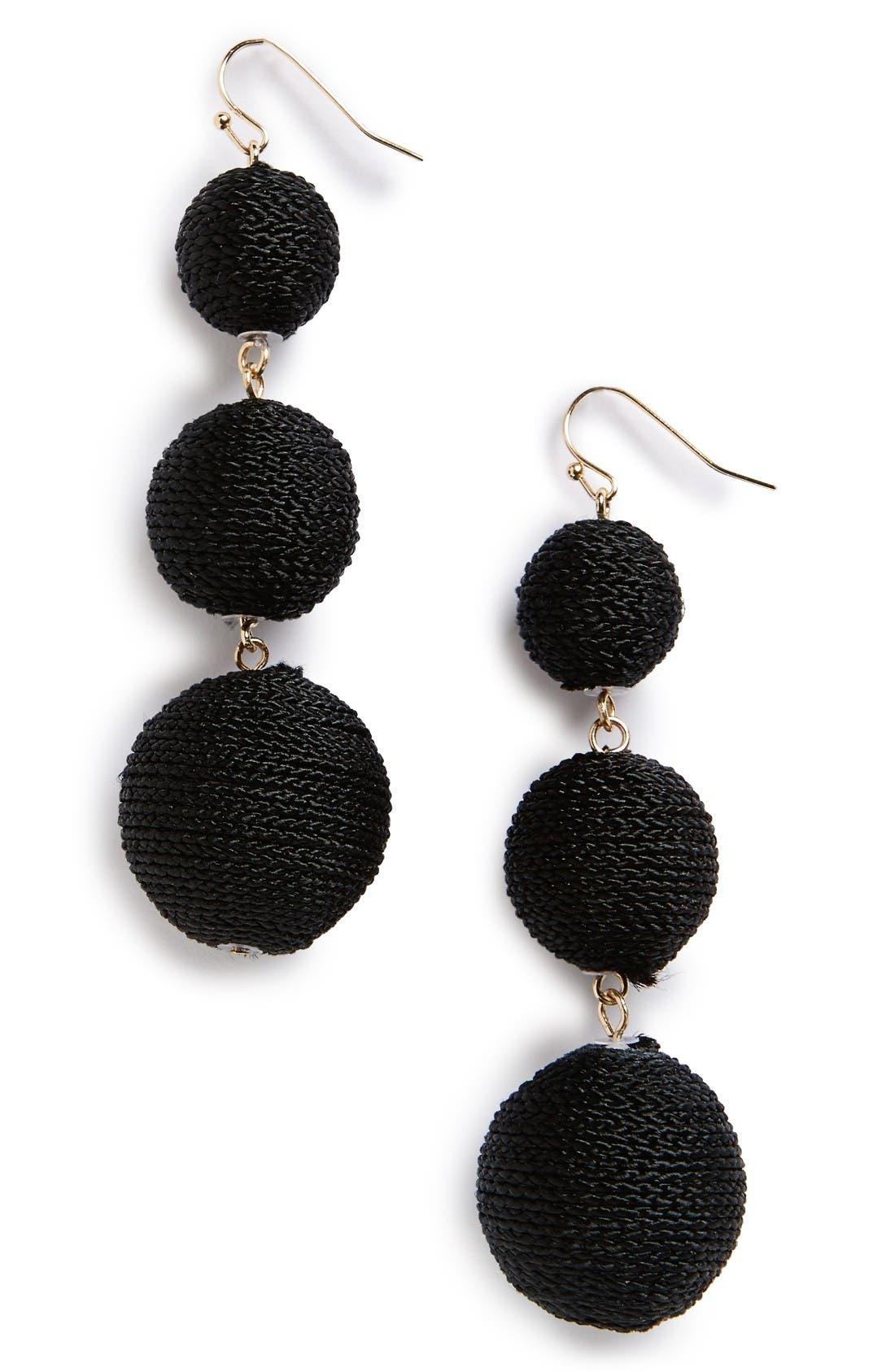 Crispin Drop Earrings,                             Main thumbnail 1, color,                             Black