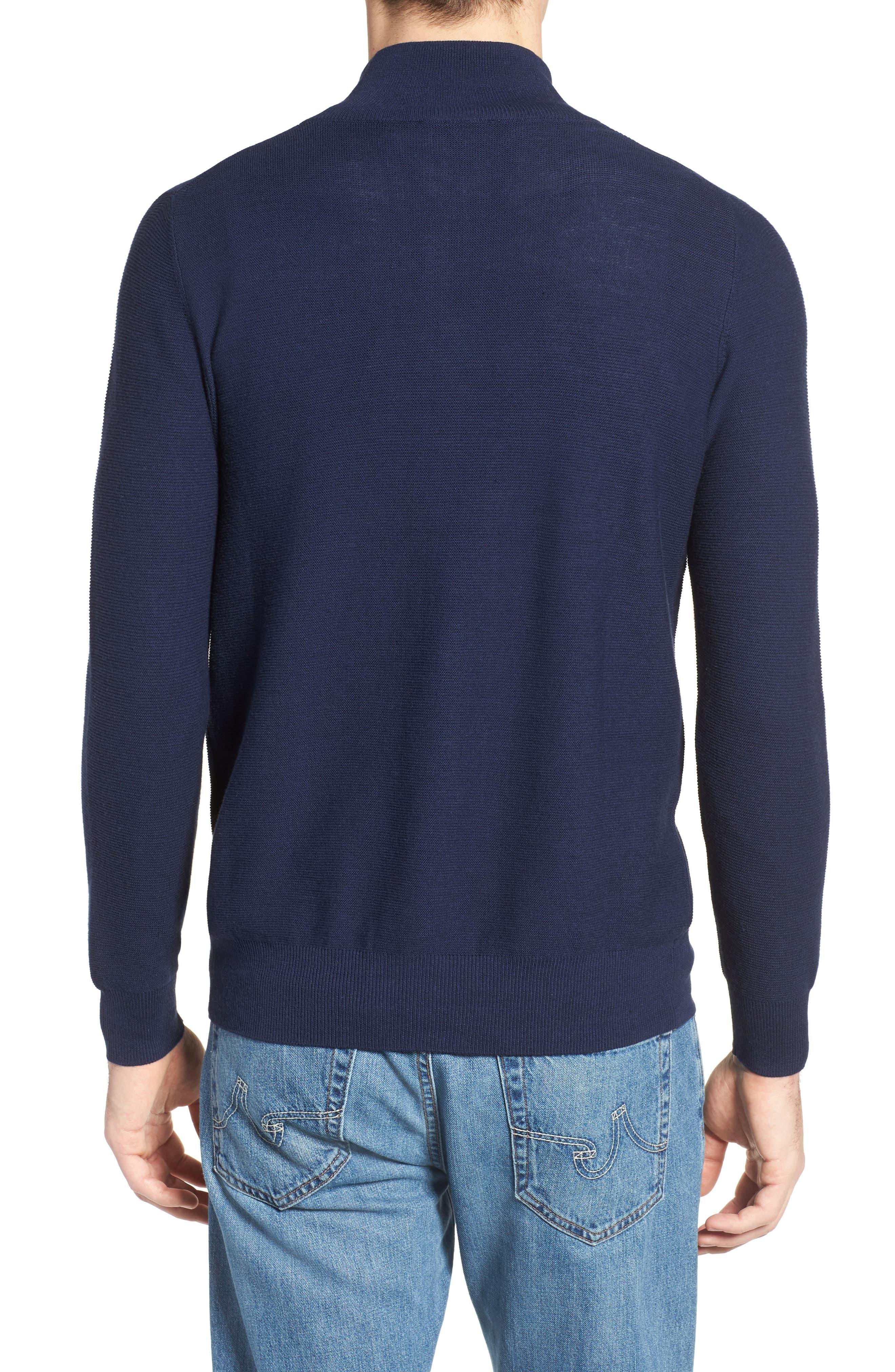 Quarter Zip Sweater,                             Alternate thumbnail 2, color,                             Navy