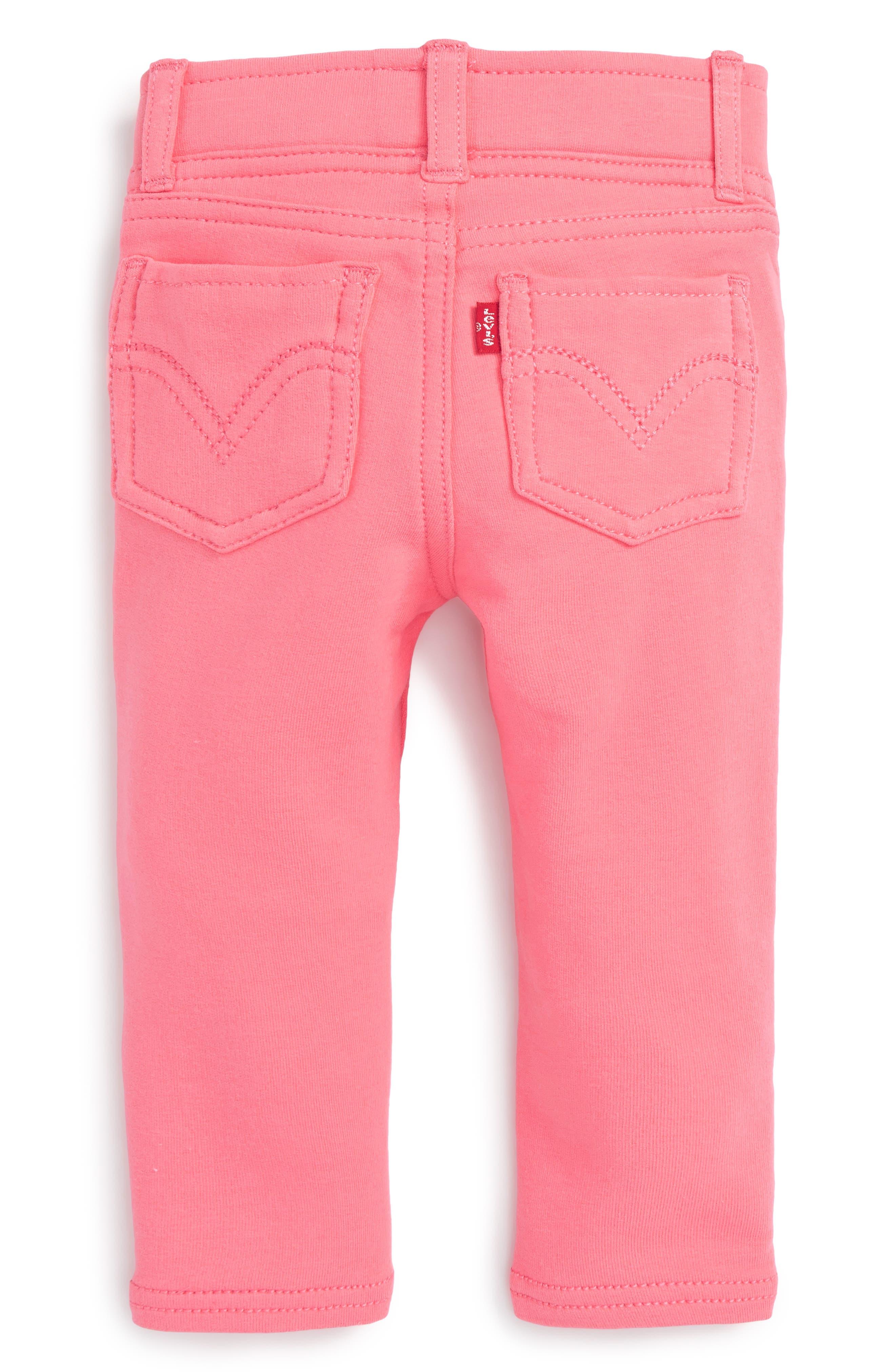Haley May Leggings,                             Alternate thumbnail 2, color,                             Strawberry Pink