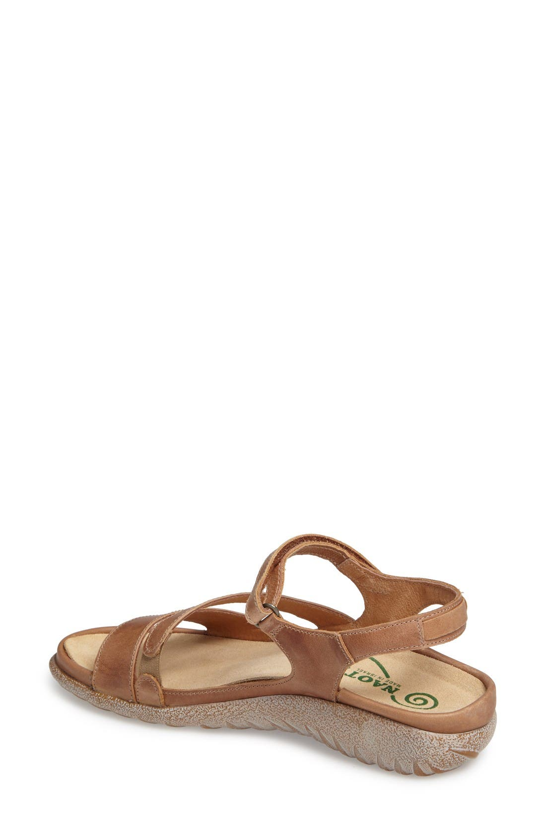 'Etera' Sandal,                             Alternate thumbnail 2, color,                             Brown Leather