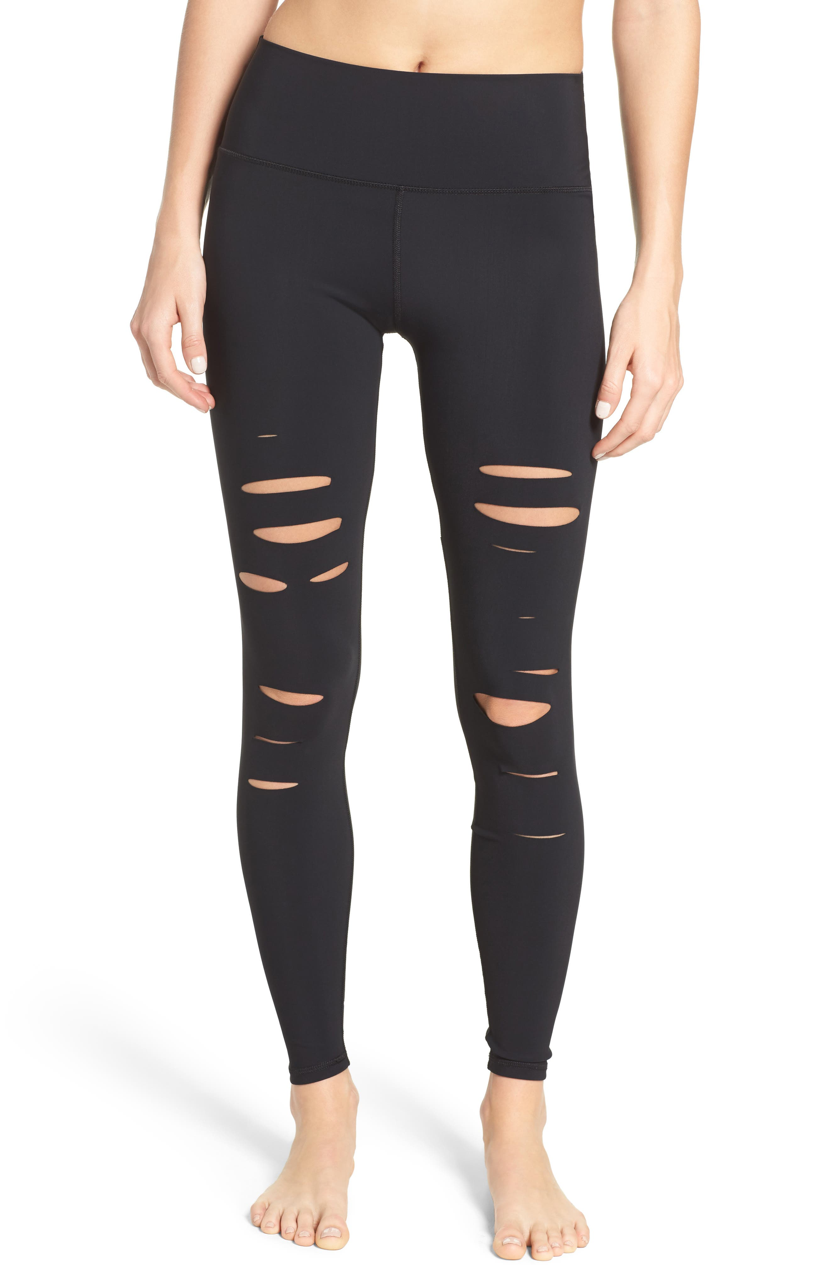Ripped Airbrush Leggings,                         Main,                         color, Black