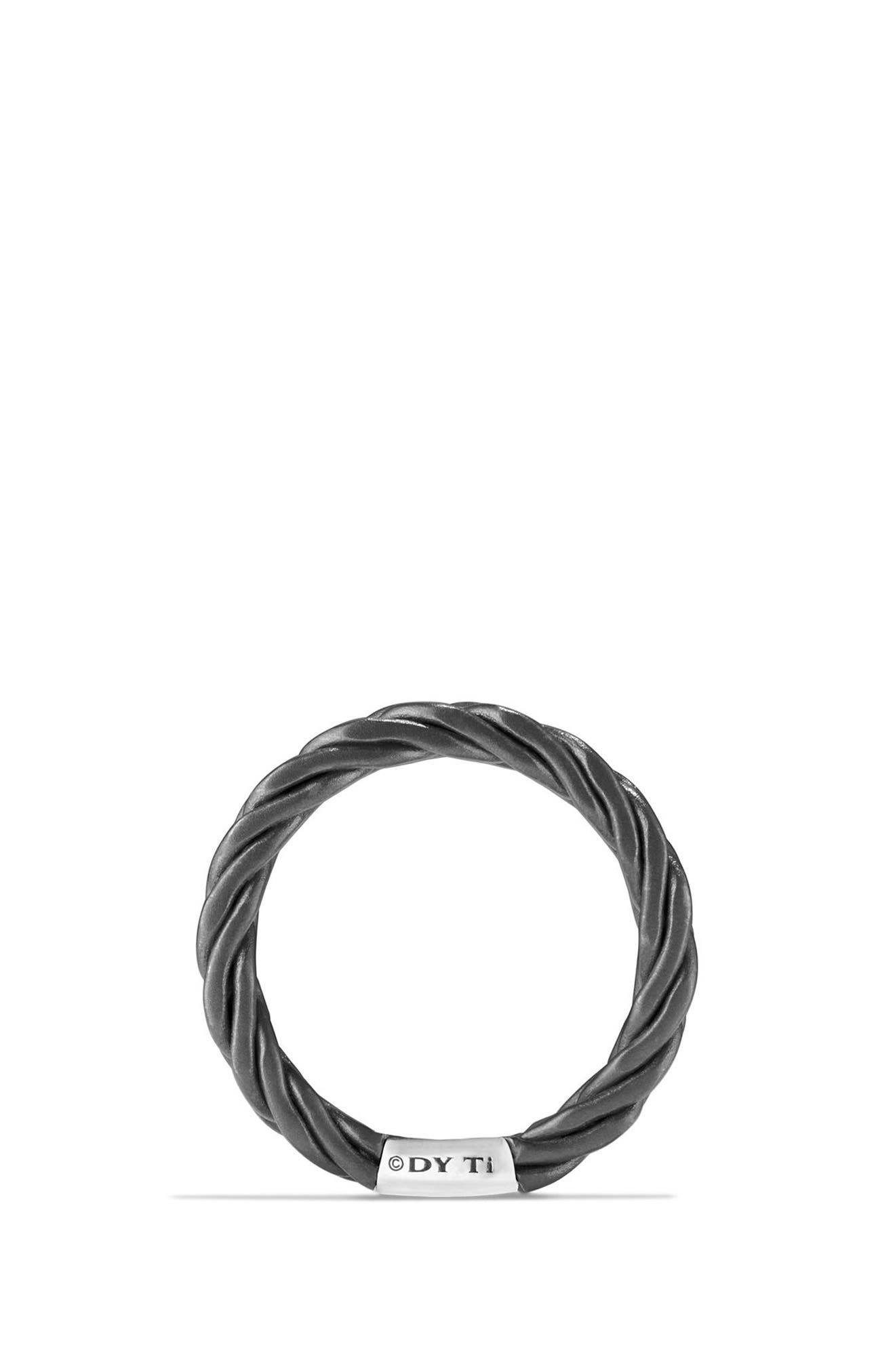 Titanium Band Ring,                             Alternate thumbnail 2, color,                             Gunmetal/ Titanium