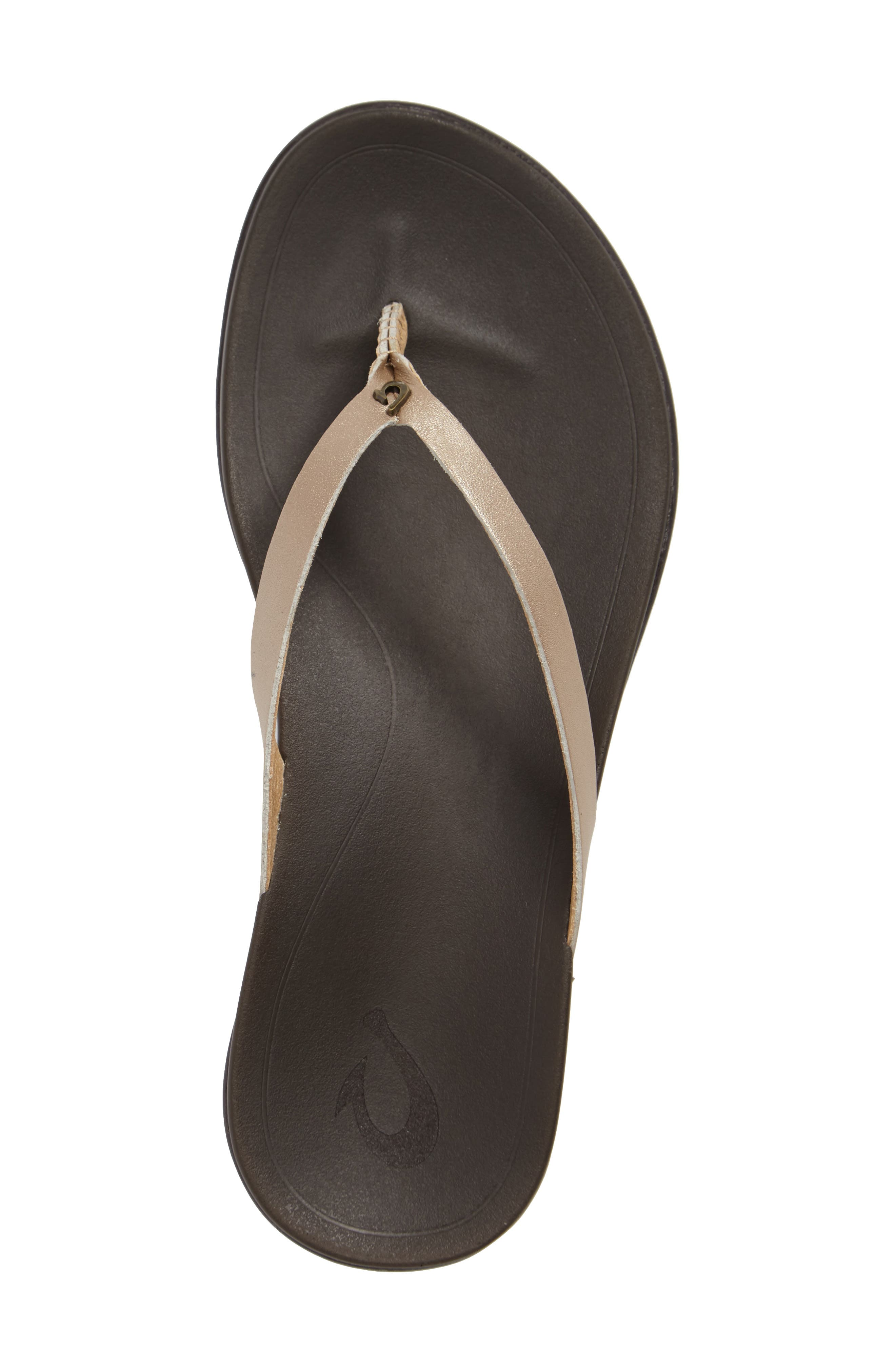 Alternate Image 3  - OluKai 'Ho Opio' Leather Flip Flop (Women)