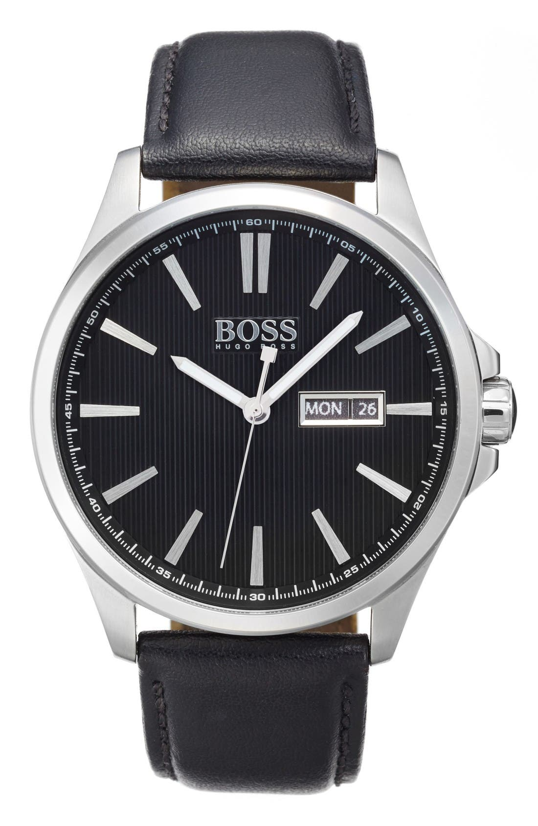 BOSS The James Leather Strap Watch, 42mm