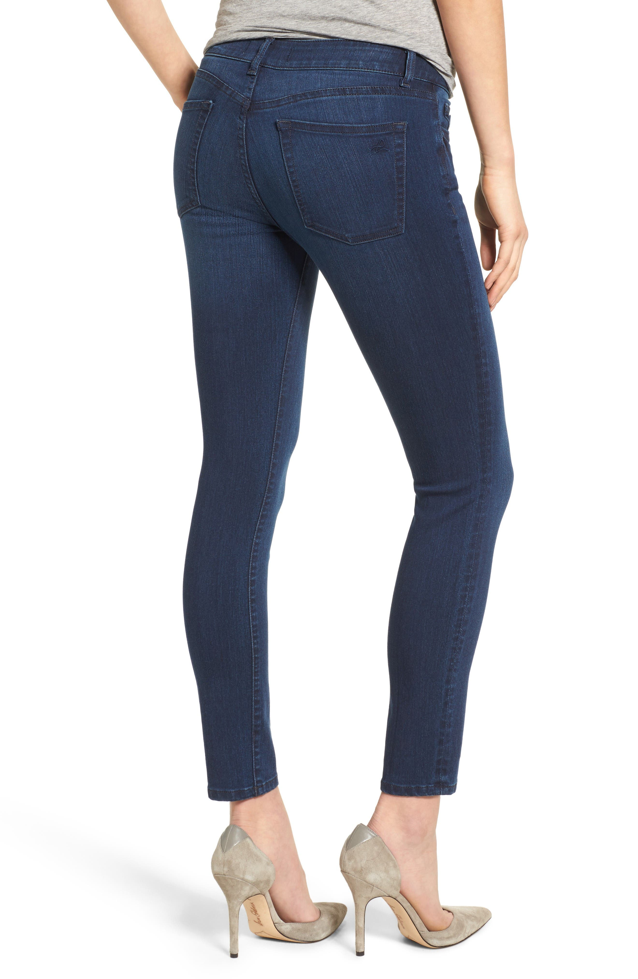 Margaux Instasculpt Ankle Skinny Jeans,                             Alternate thumbnail 2, color,                             Moscow
