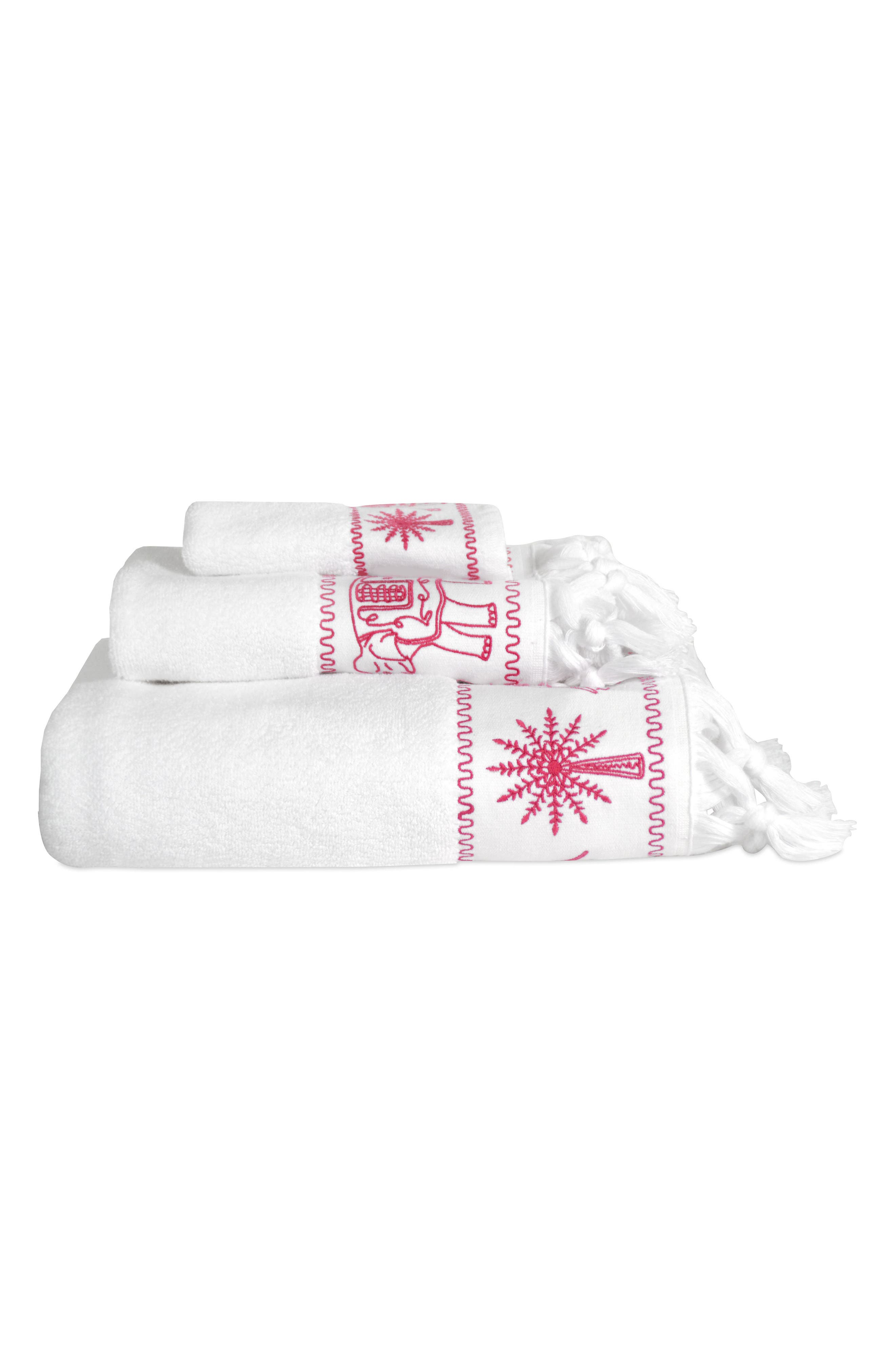 Yaji Bath Towel,                             Alternate thumbnail 2, color,                             Pink