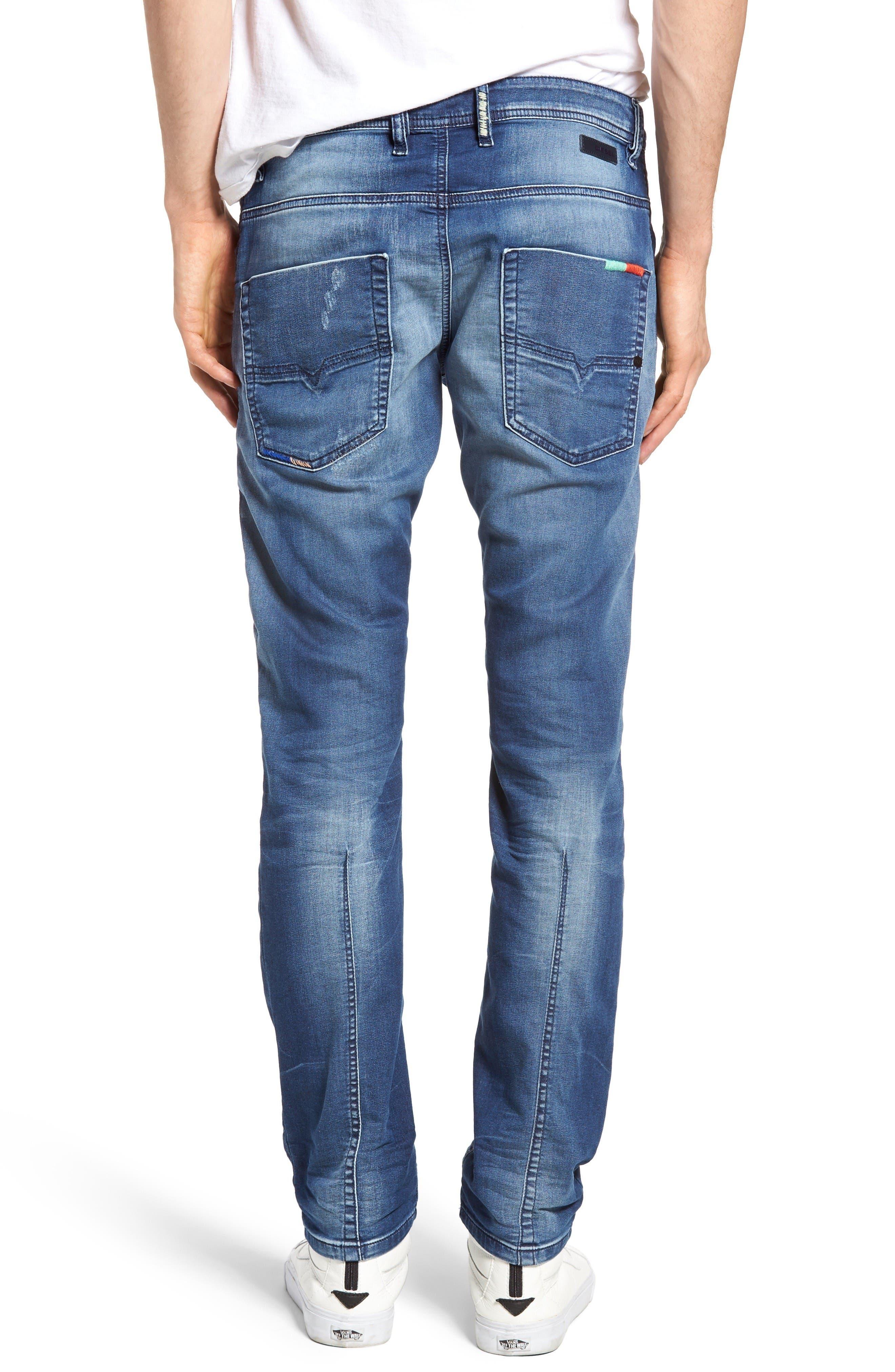 Alternate Image 2  - DIESEL Krooley Jogg Slouchy Slim Fit Jeans (0680Y)