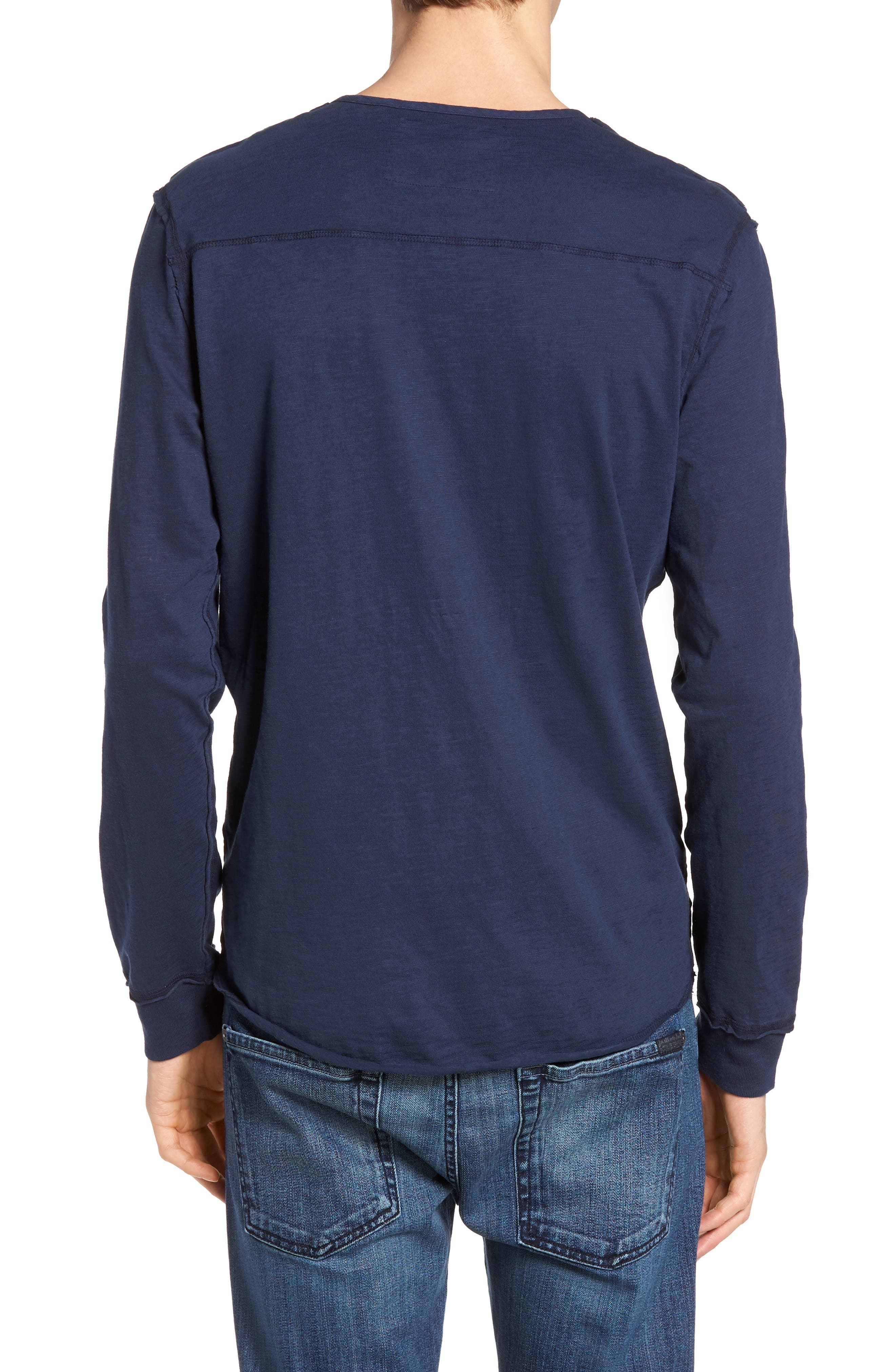 Alternate Image 2  - True Religion Brand Jeans Raw Edge Henley
