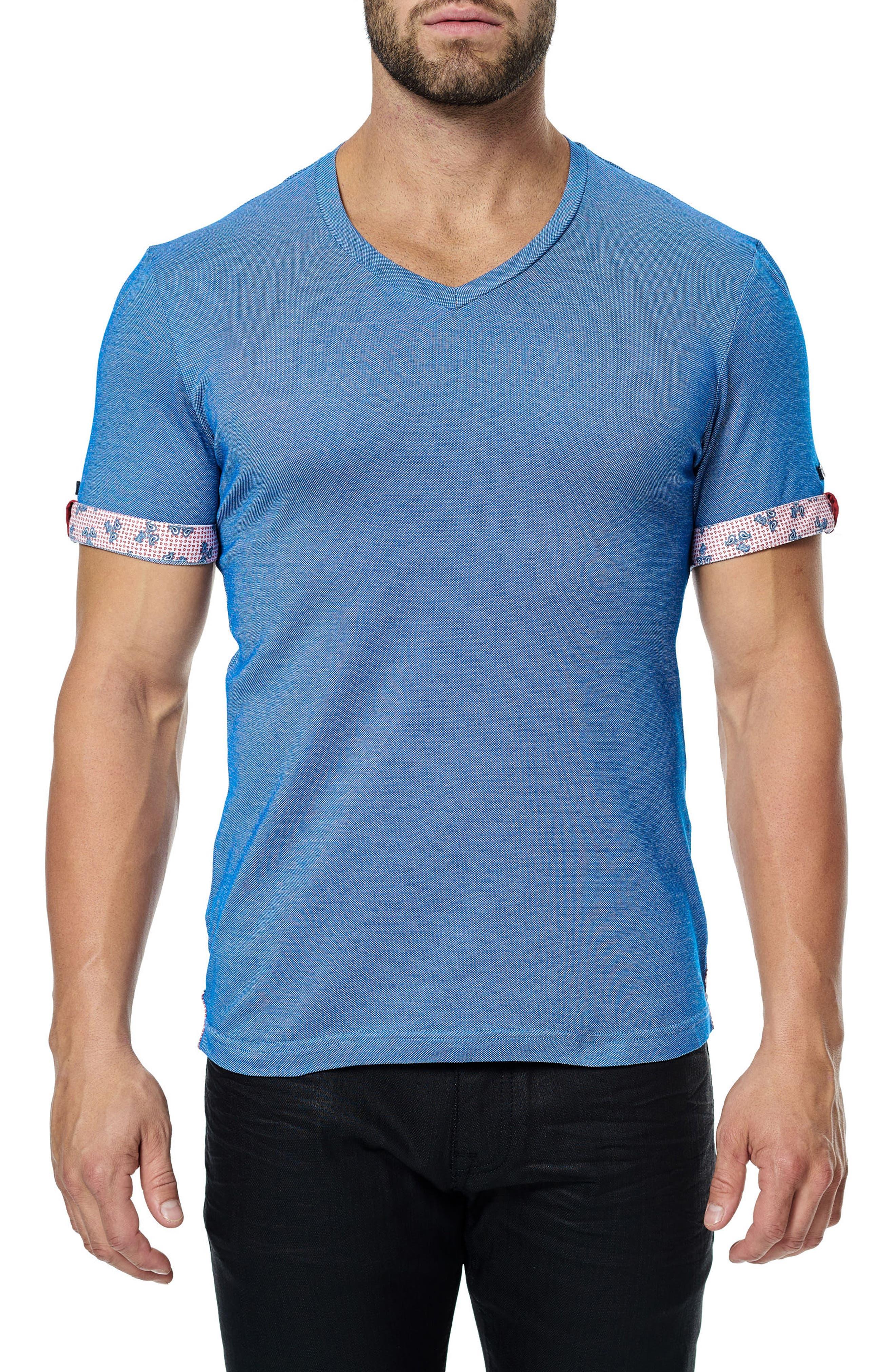 Alternate Image 3  - Maceoo V-Neck Stretch T-Shirt