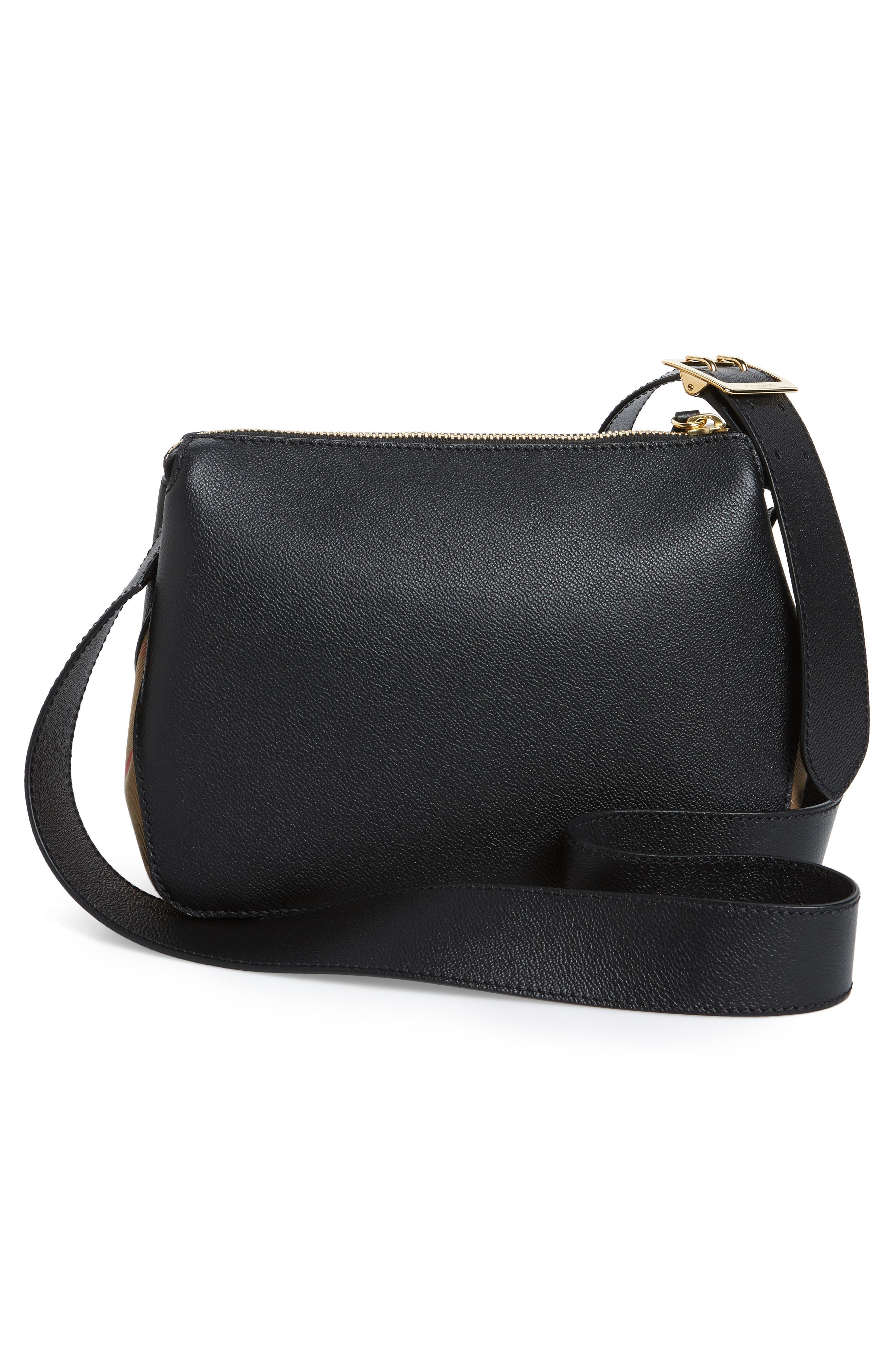 Alternate Image 3  - Burberry Helmsley House Check Leather Crossbody Bag