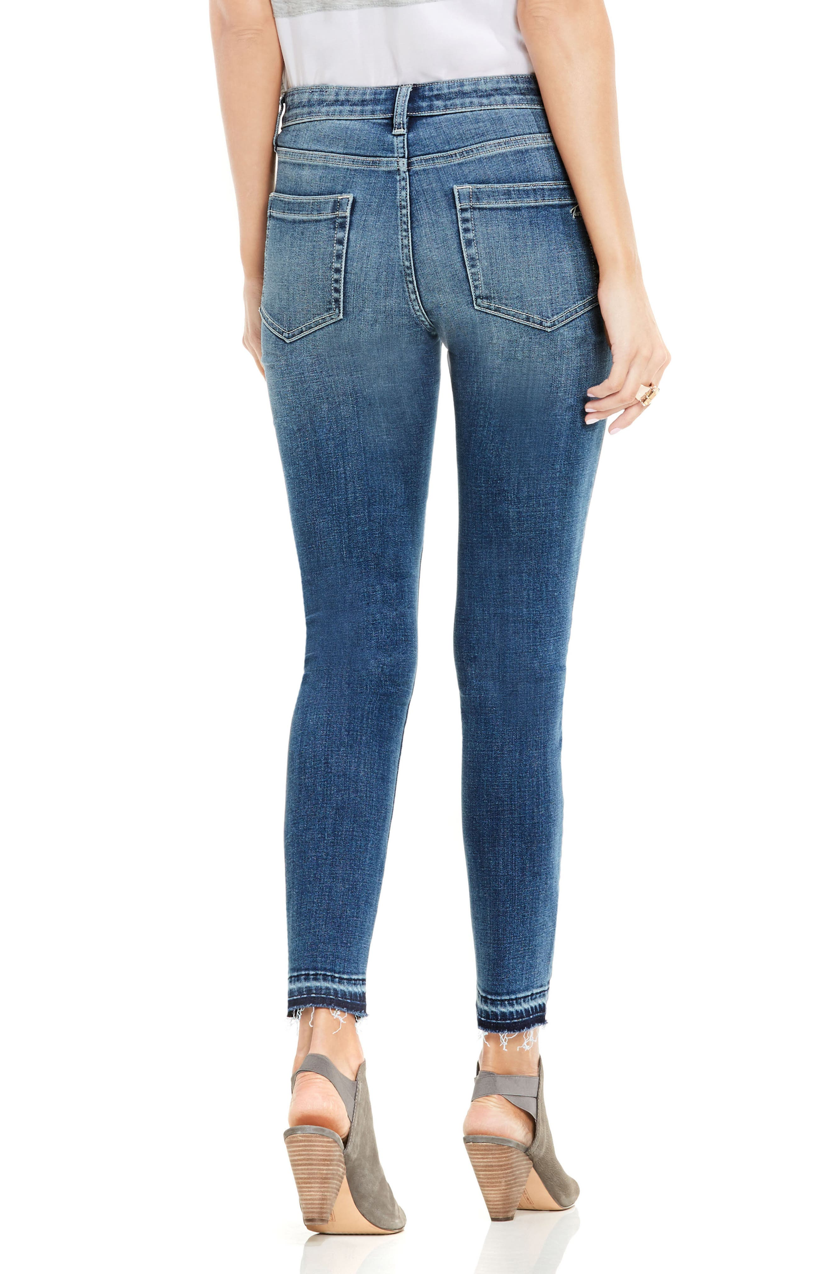 Release Hem Skinny Jeans,                             Alternate thumbnail 2, color,                             True Blue