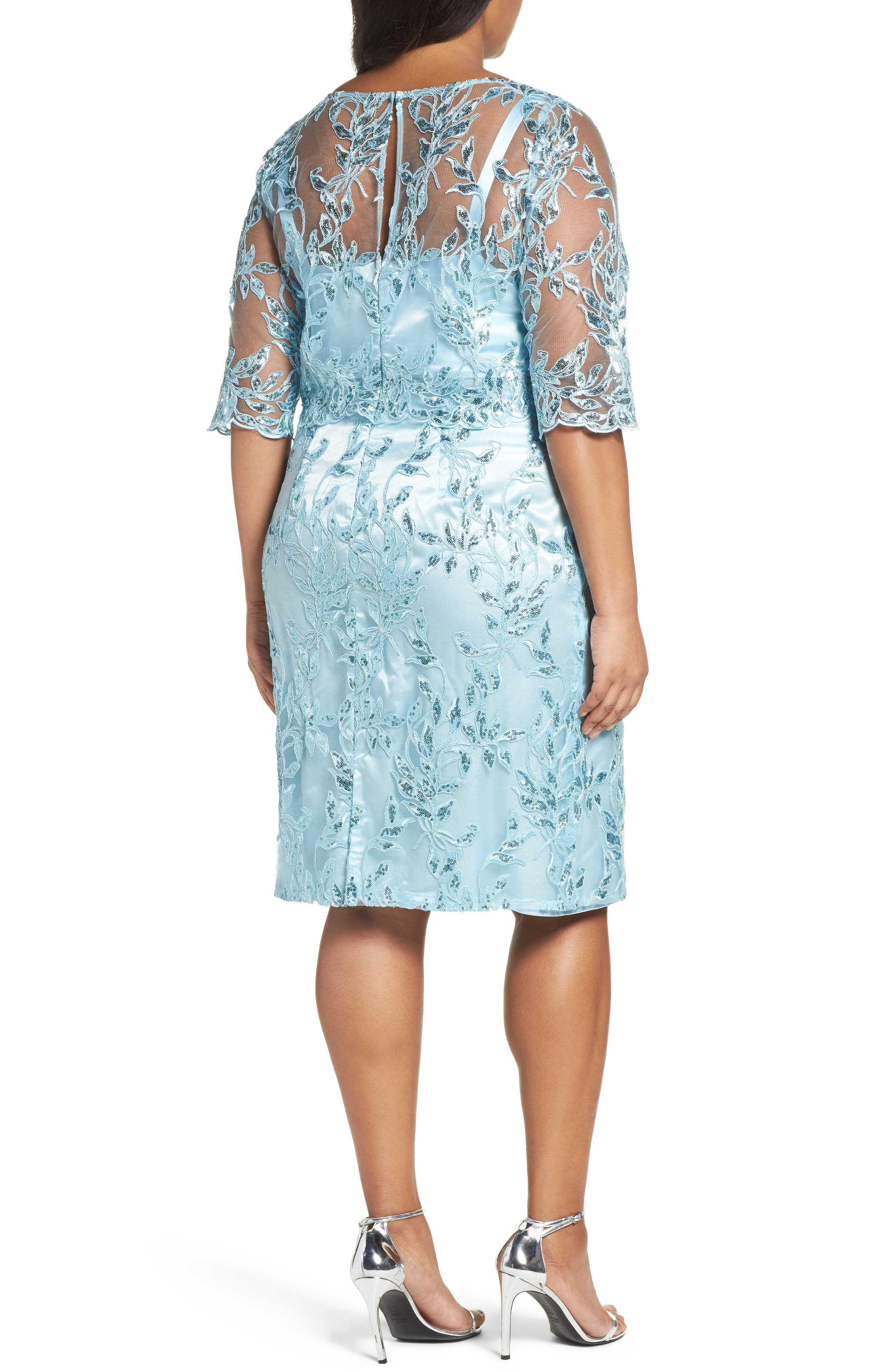 Alternate Image 2  - Brianna Embellished Embroidered Popover Dress (Plus Size)