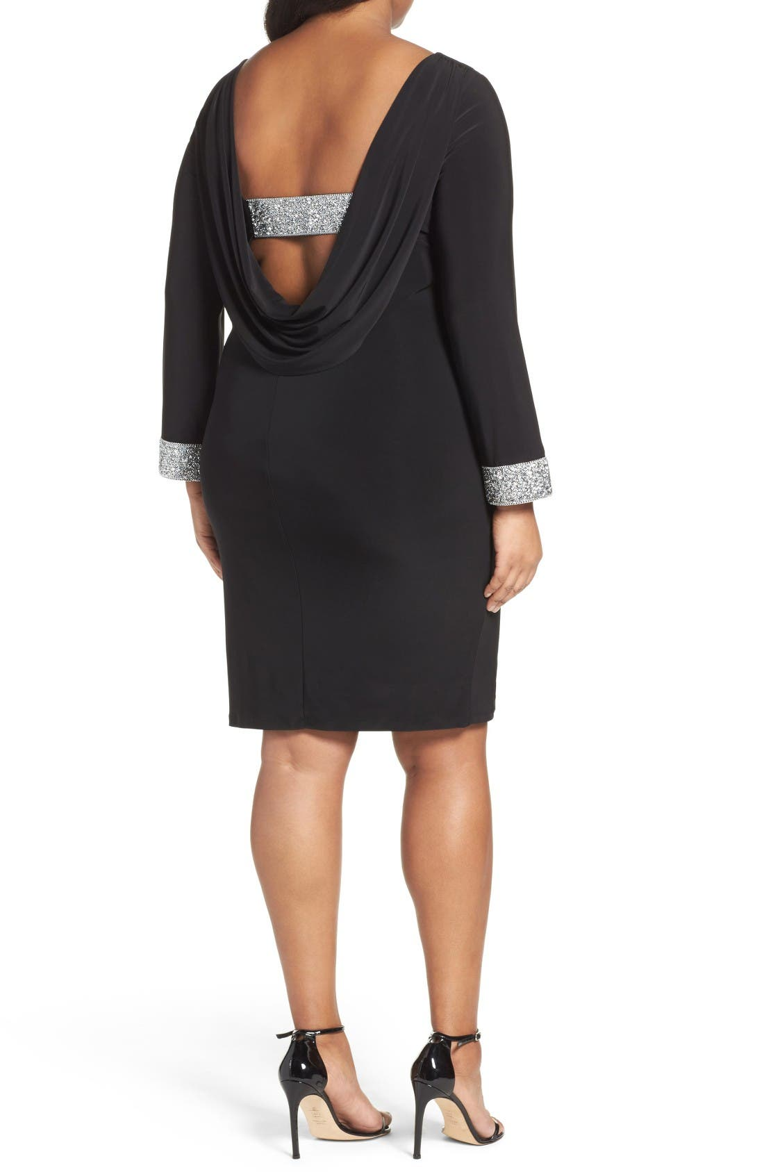 Alternate Image 2  - Marina Open Back Sheath Dress (Plus Size)