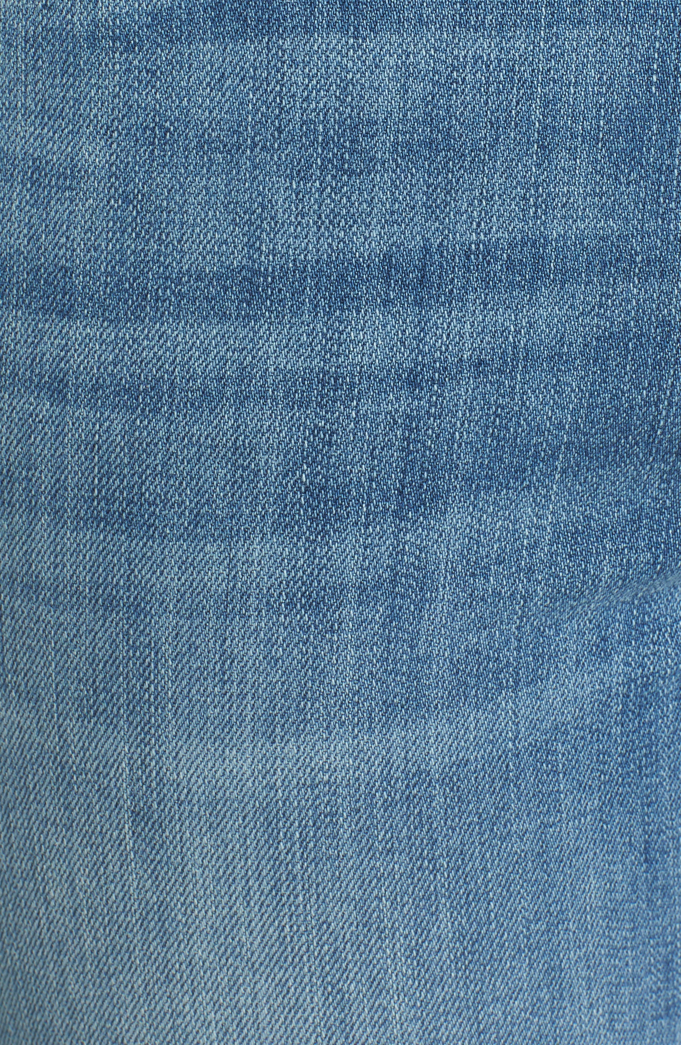 Alternate Image 5  - KUT from the Kloth Reese Frayed Straight Leg Ankle Jeans (Participation)