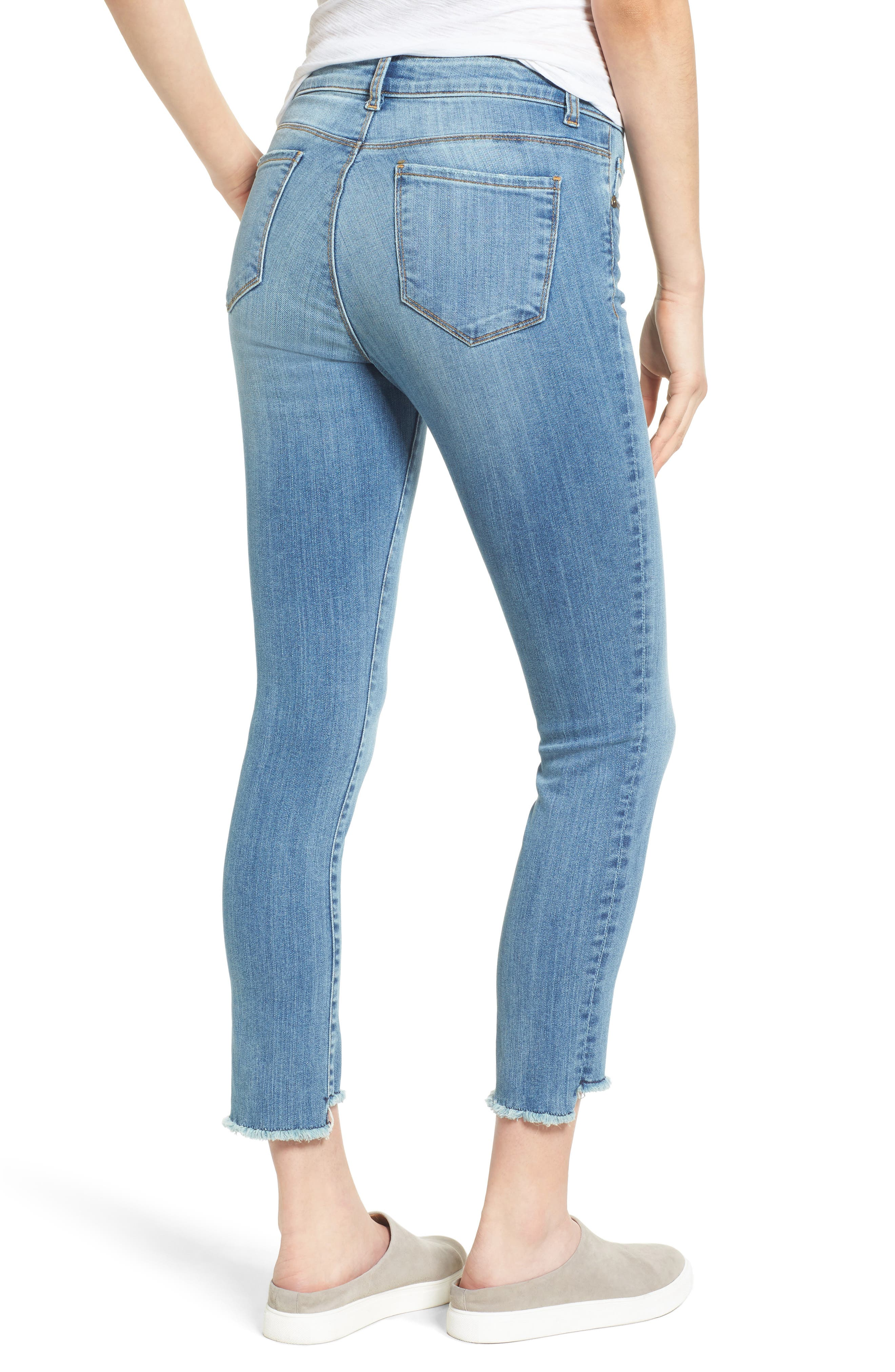 Alternate Image 2  - KUT from the Kloth Reese Frayed Straight Leg Ankle Jeans (Participation)