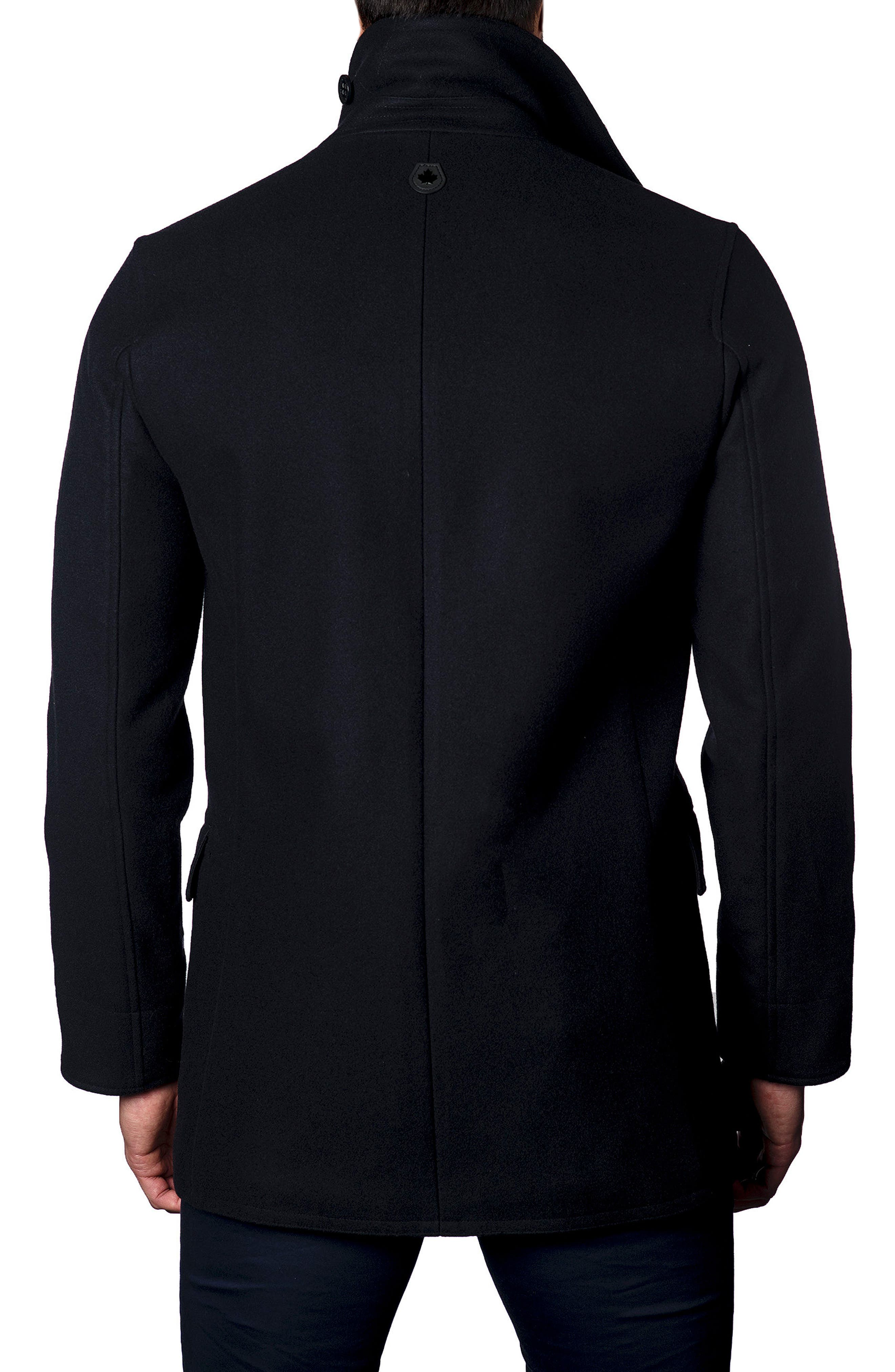 Alternate Image 2  - Jared Lang Wool Blend Double Breasted Peacoat