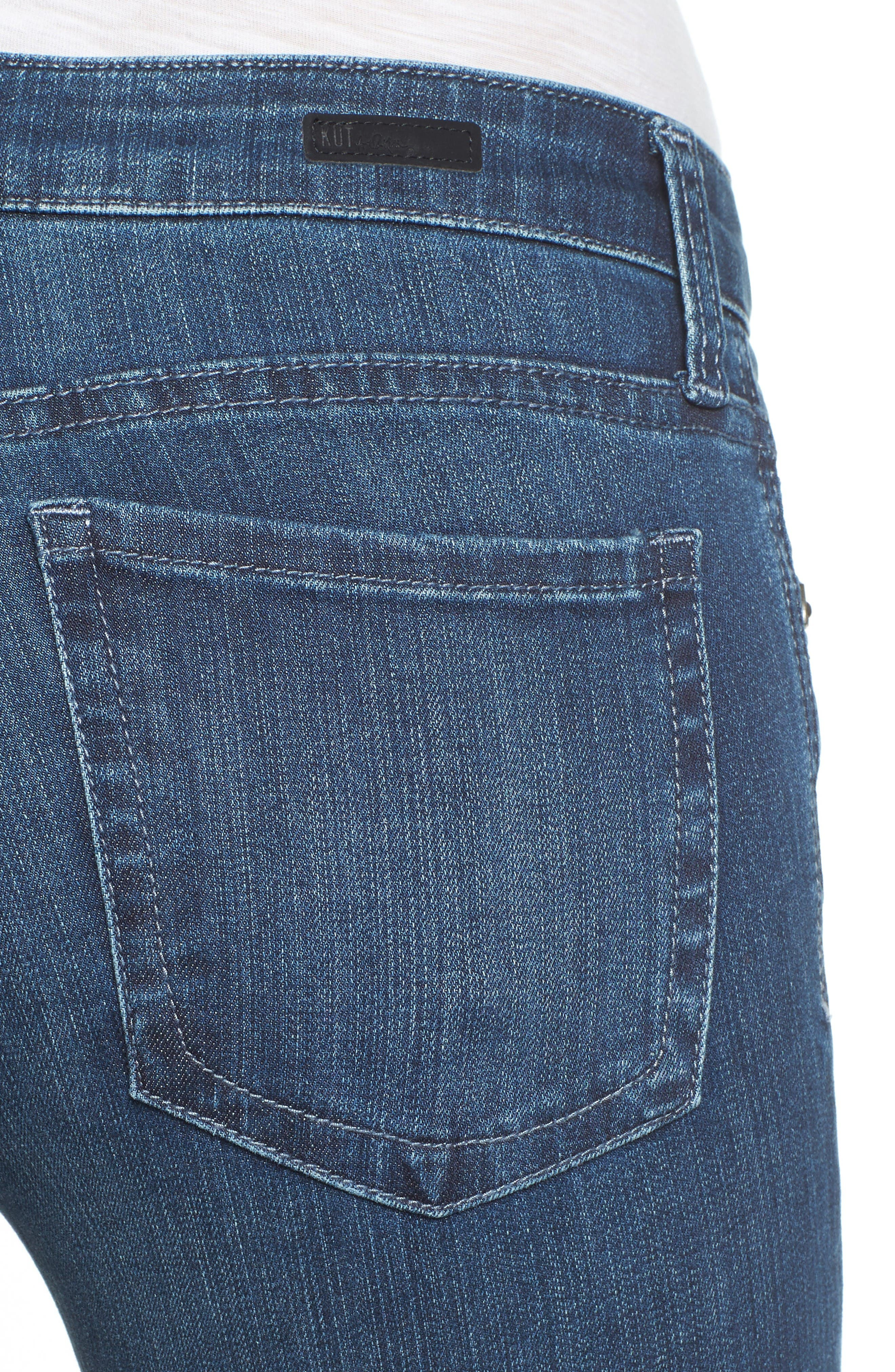 Alternate Image 4  - KUT from the Kloth Diana Stretch Skinny Jeans (Moderation) (Regular & Petite)