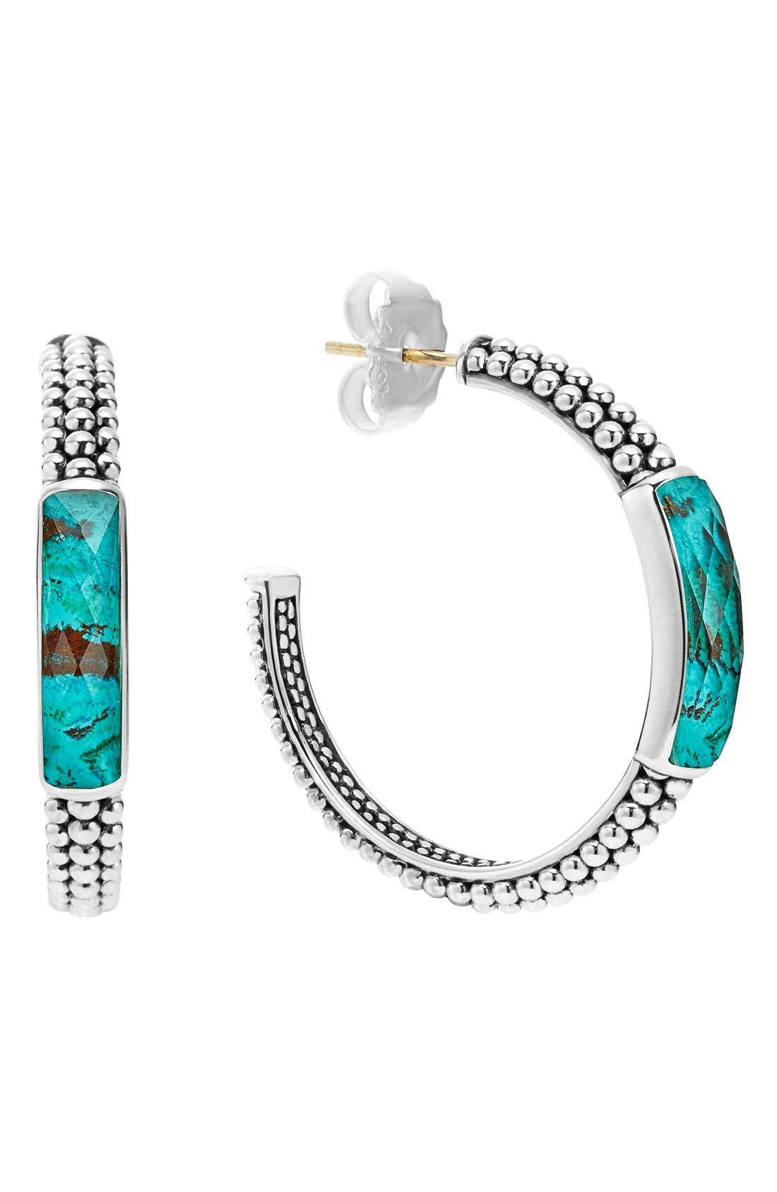 LAGOS 'Maya' Caviar Hoop Earrings