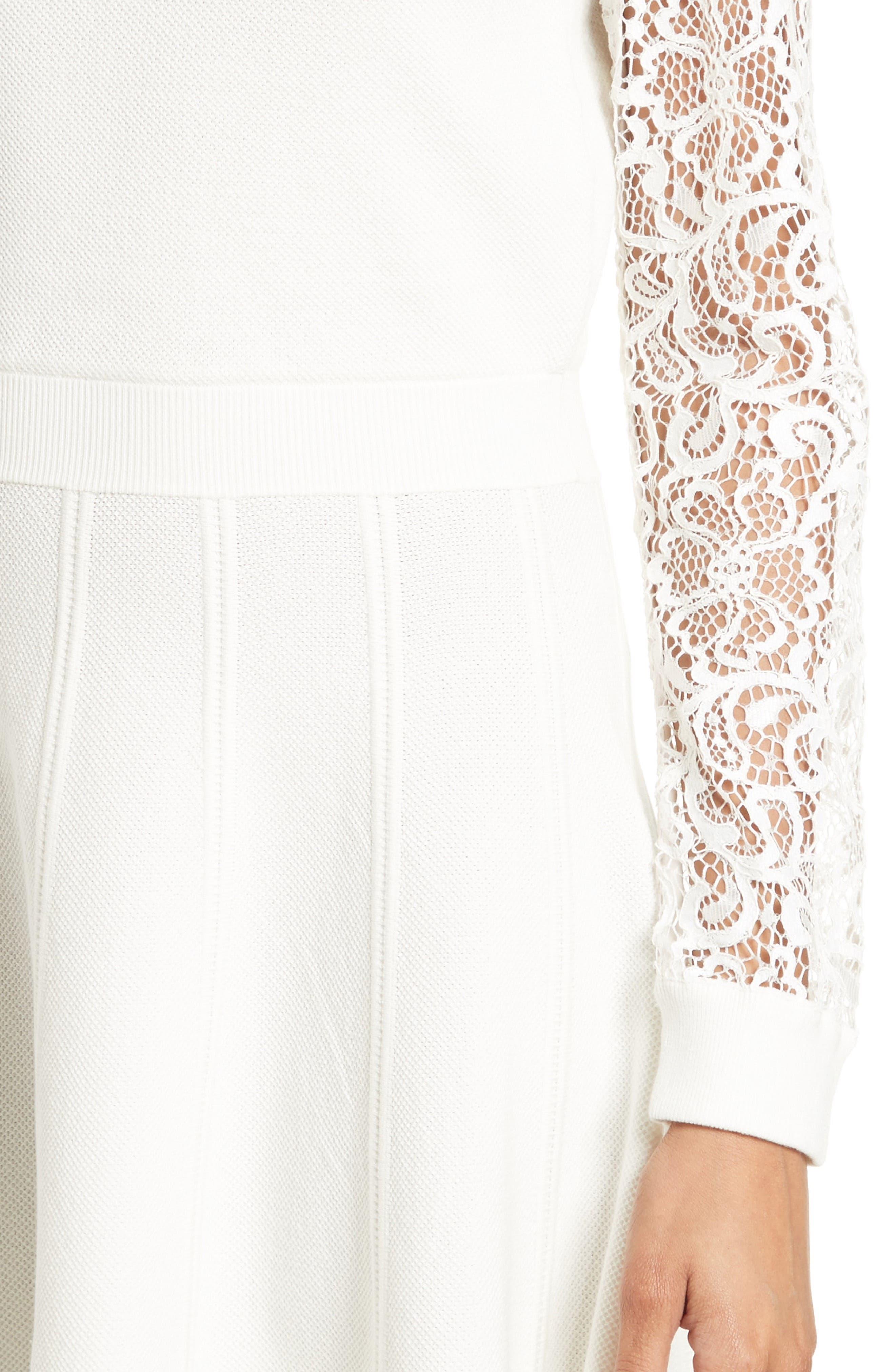 Alternate Image 4  - Alice + Olivia Blake Lace Sleeve Sweater Dress
