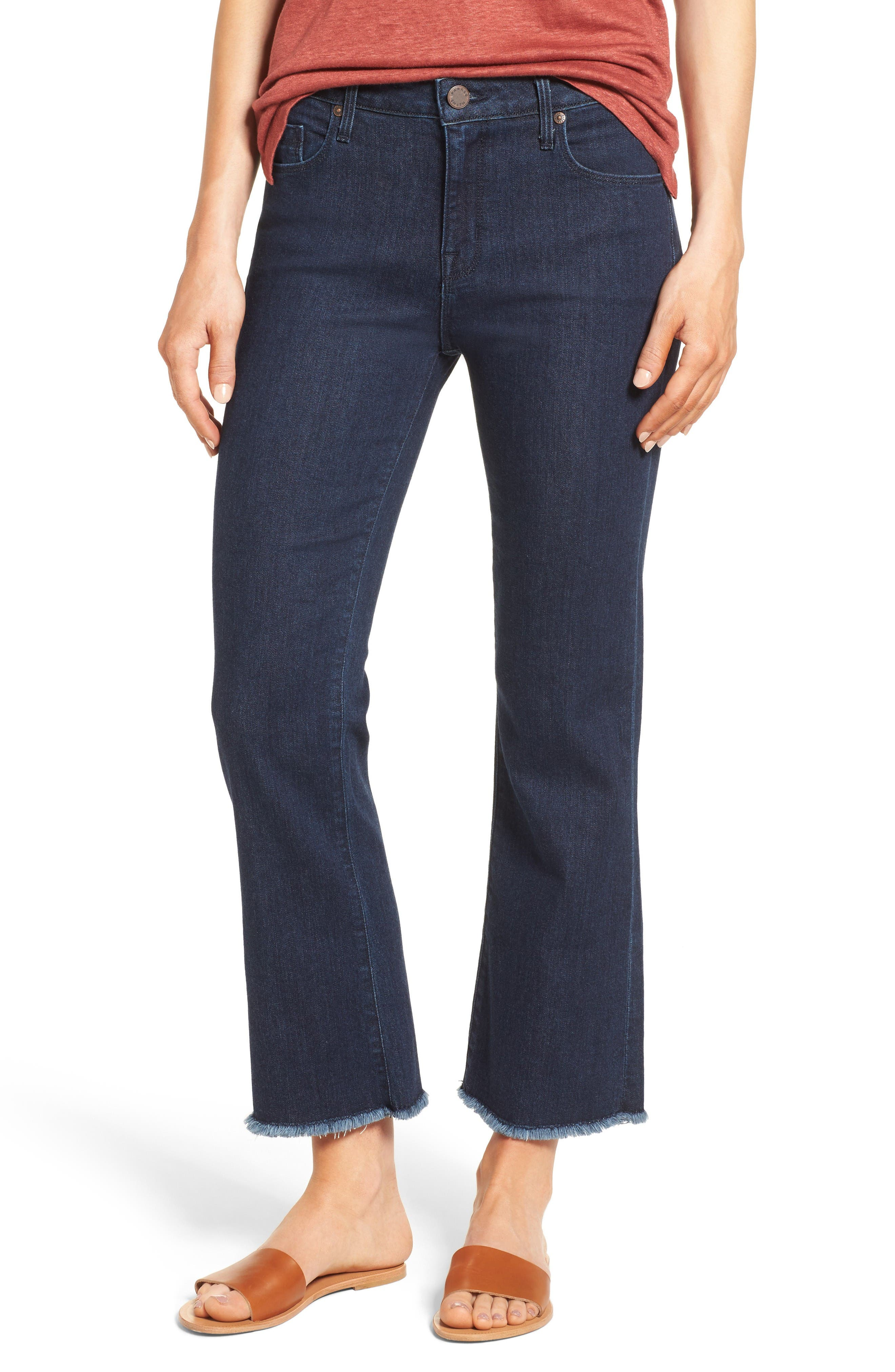 Main Image - PARKER SMITH Brynna Crop Flare Jeans (Baltic)