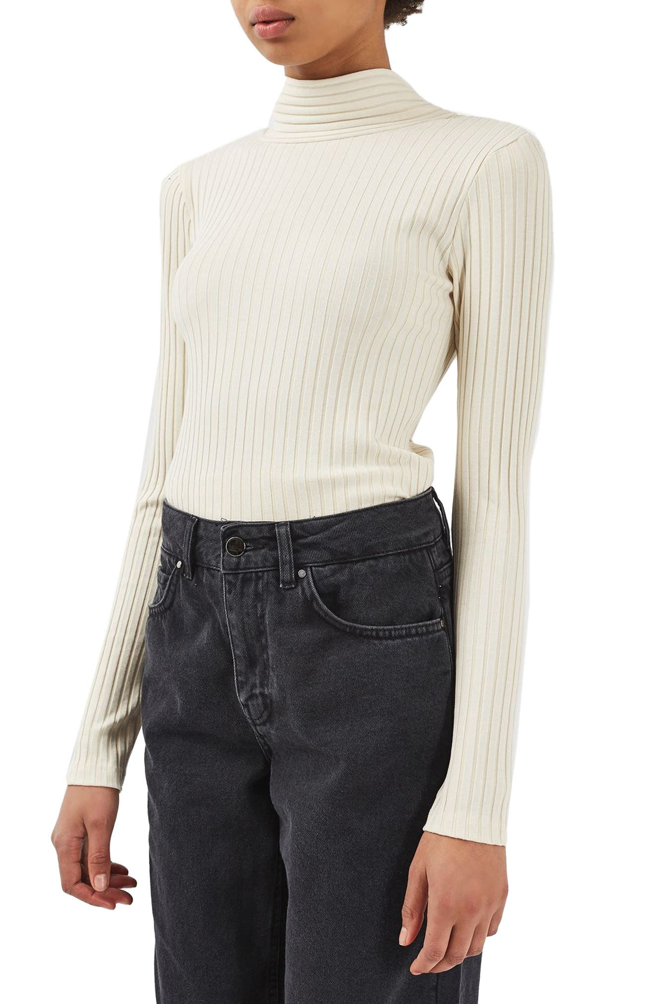 Main Image - Topshop Boutique Tie Back Sweater