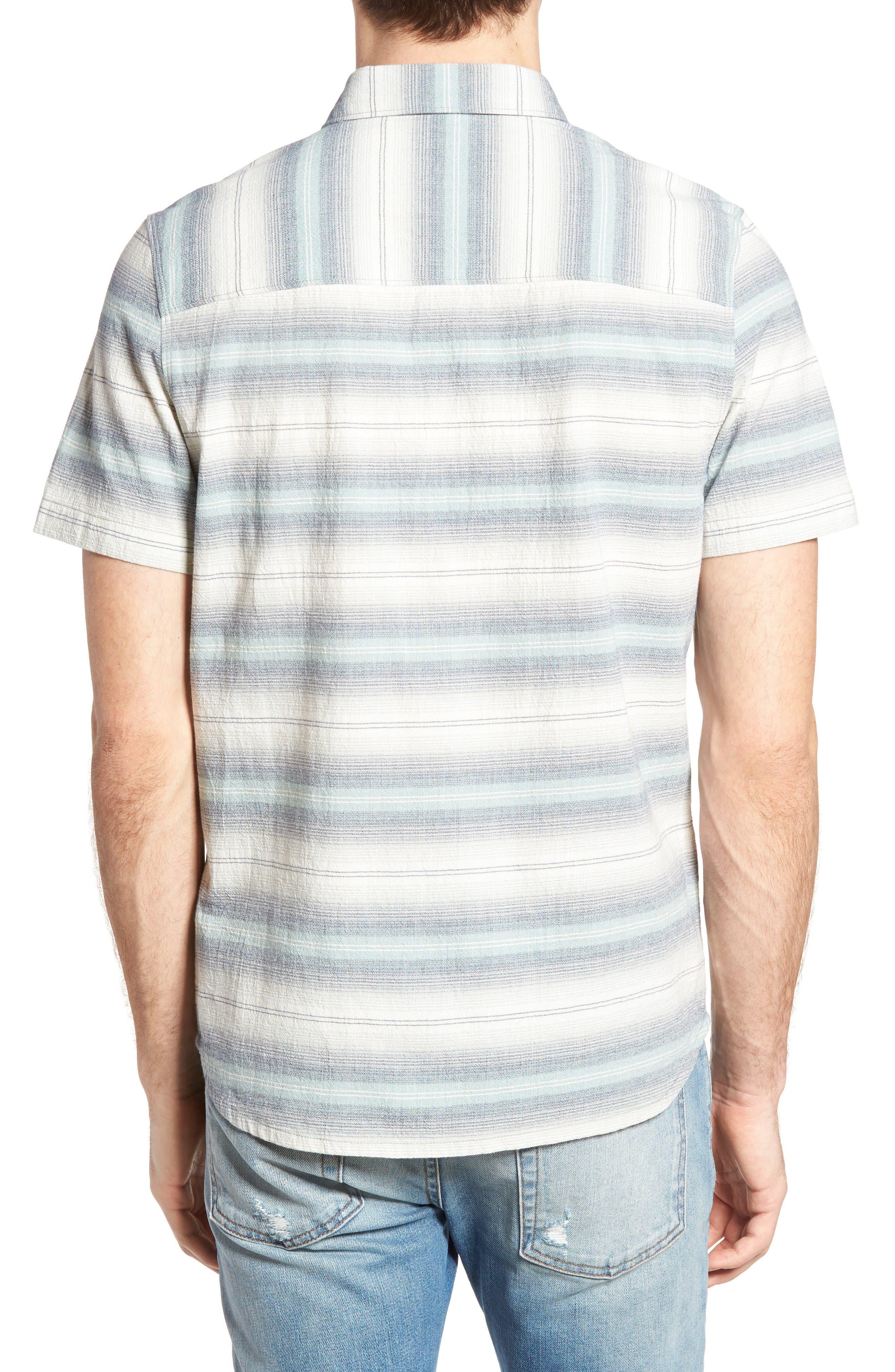 Gibson Regular Fit Textured Stripe Sport Shirt,                             Alternate thumbnail 2, color,                             Griffin