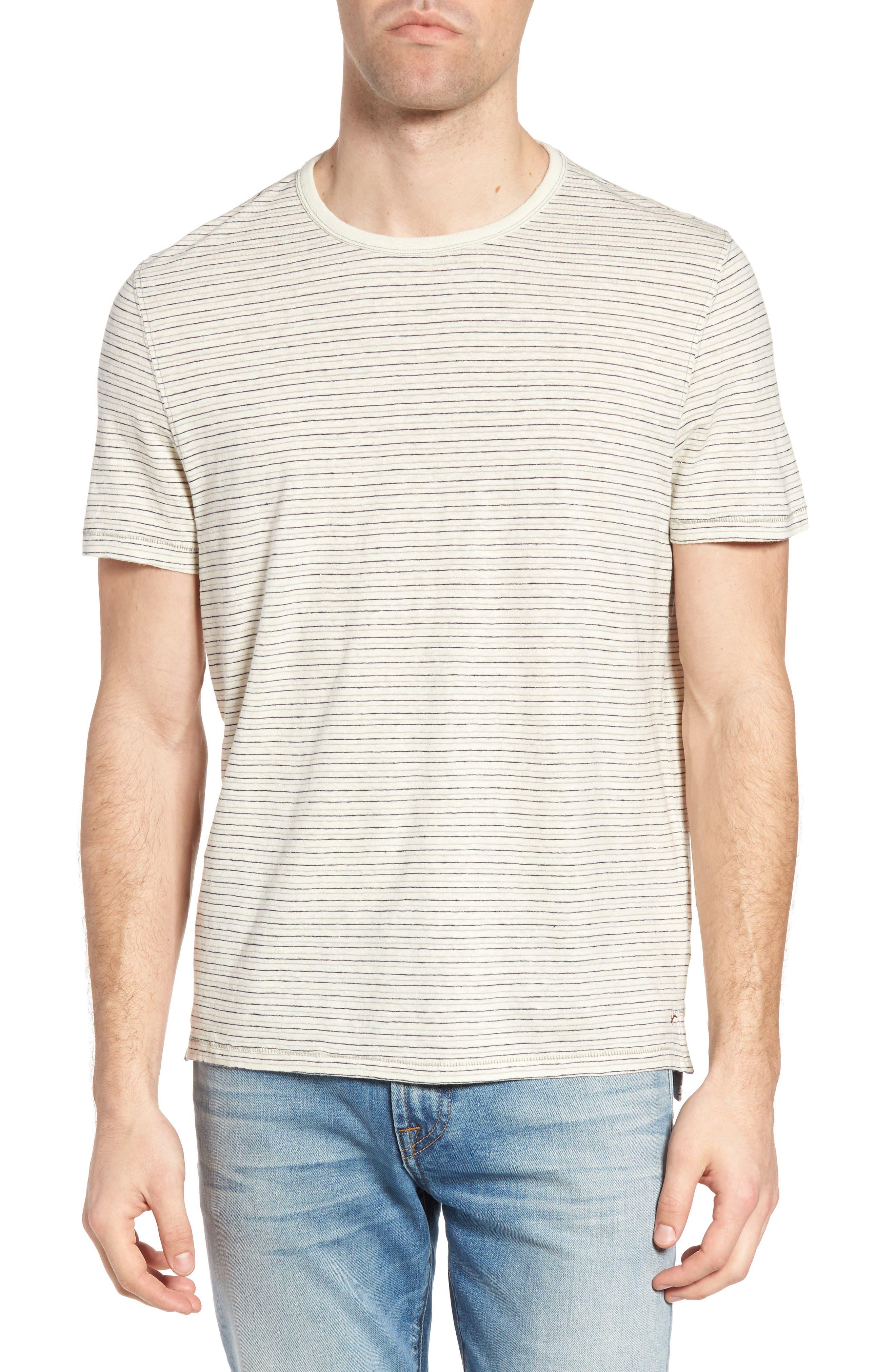 Jeremiah Stripe Hemp & Cotton T-Shirt