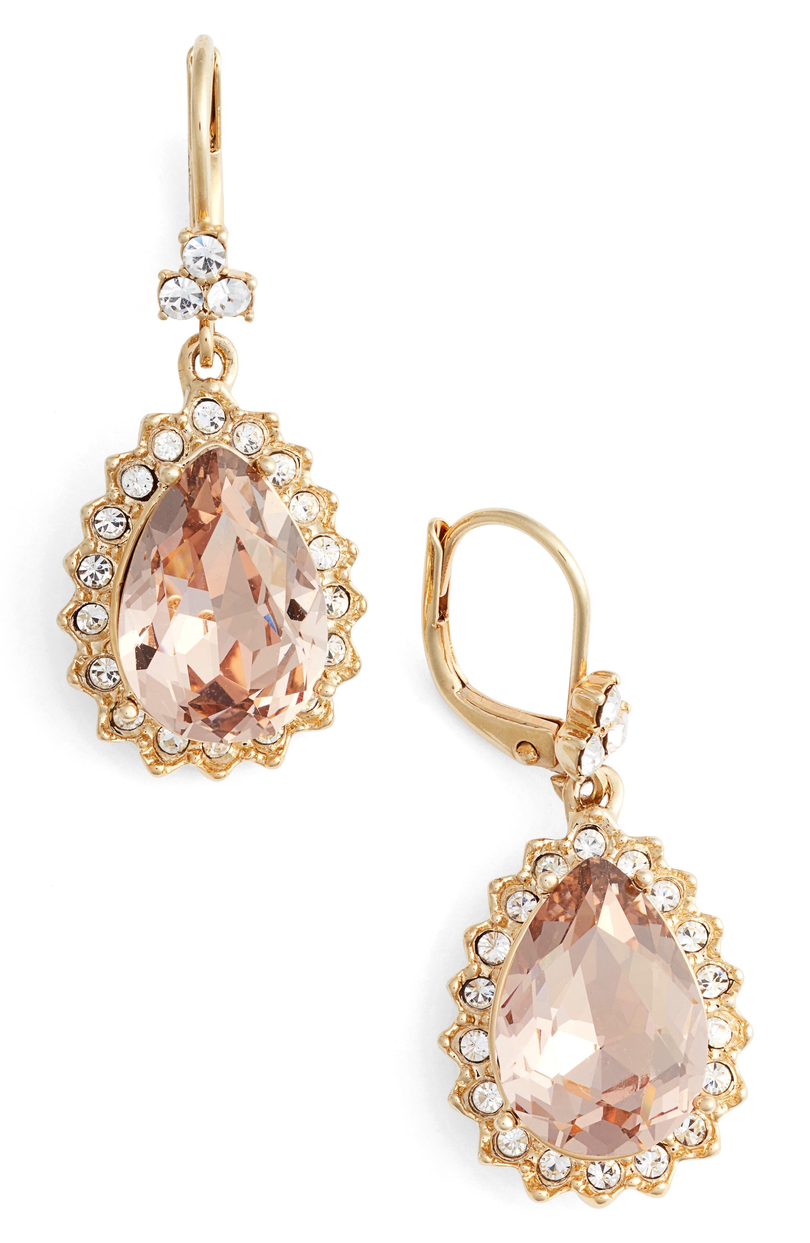 Alternate Image 1 Selected - Marchesa Sheer Bliss Pear Drop Earrings