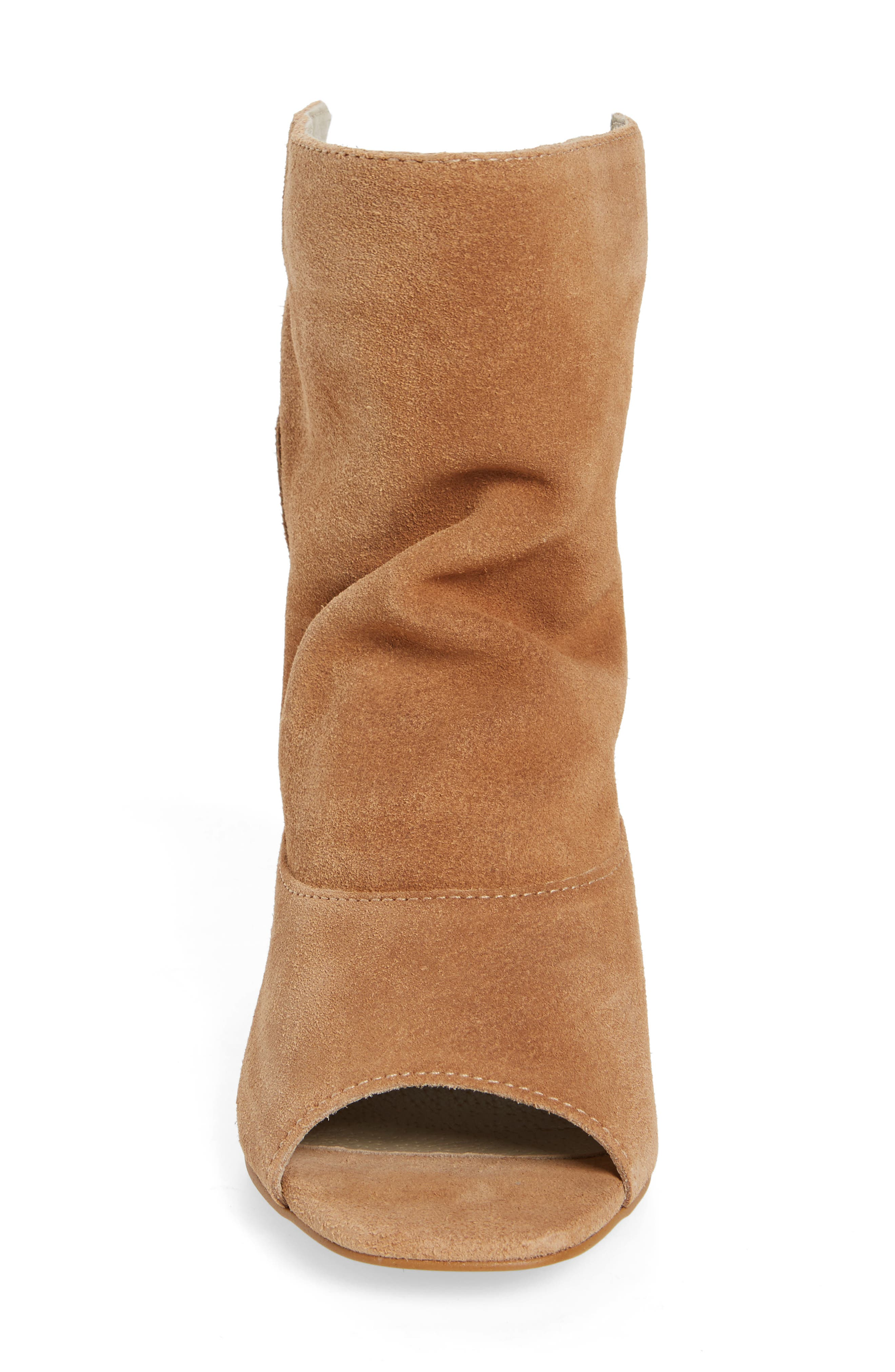 Gordy Peeptoe Bootie,                             Alternate thumbnail 3, color,                             Natural Suede