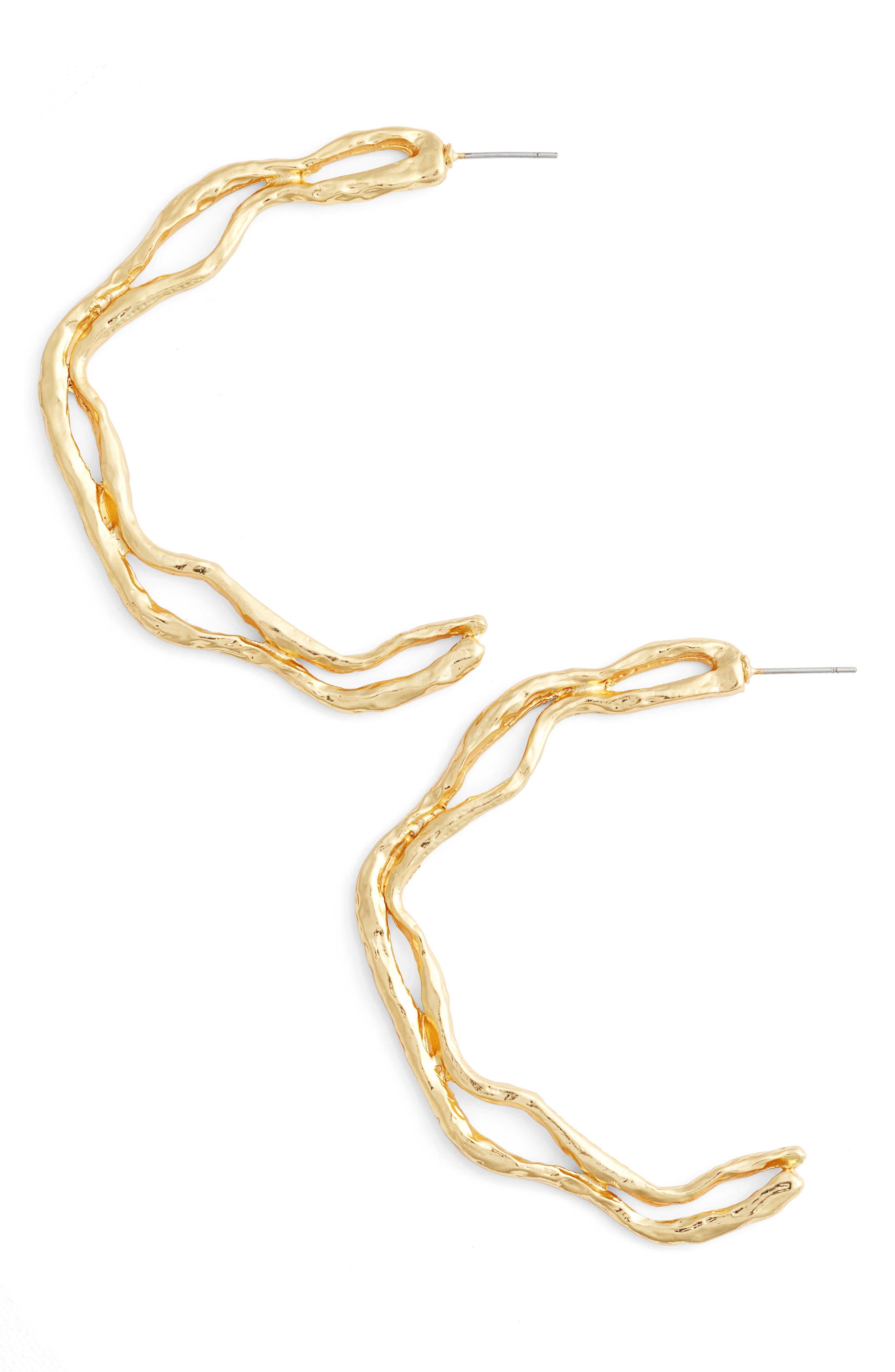 Alternate Image 1 Selected - Karine Sultan Openwork Hoop Earrings