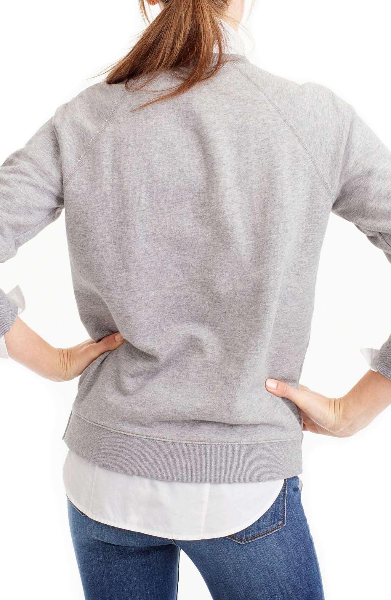 French Colors Sweatshirt,                             Alternate thumbnail 2, color,                             Heather Grey