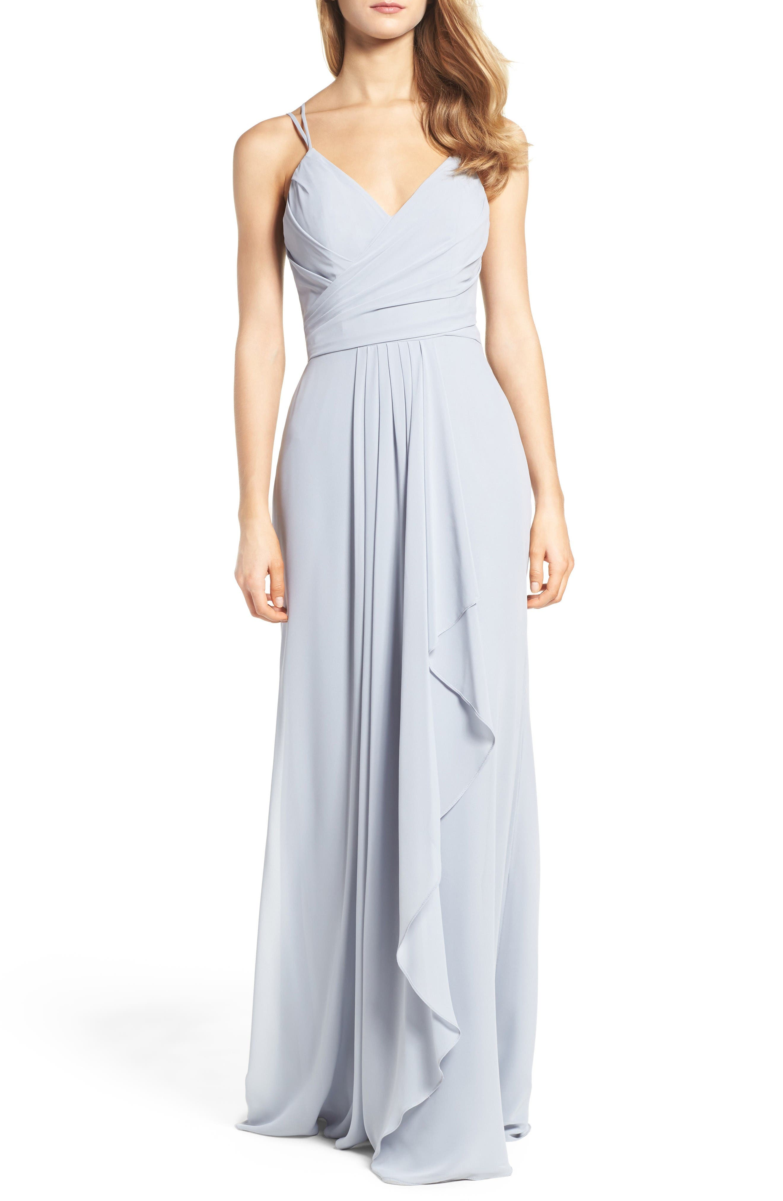 Alternate Image 1 Selected - Hayley Paige Occasions Chiffon Gown
