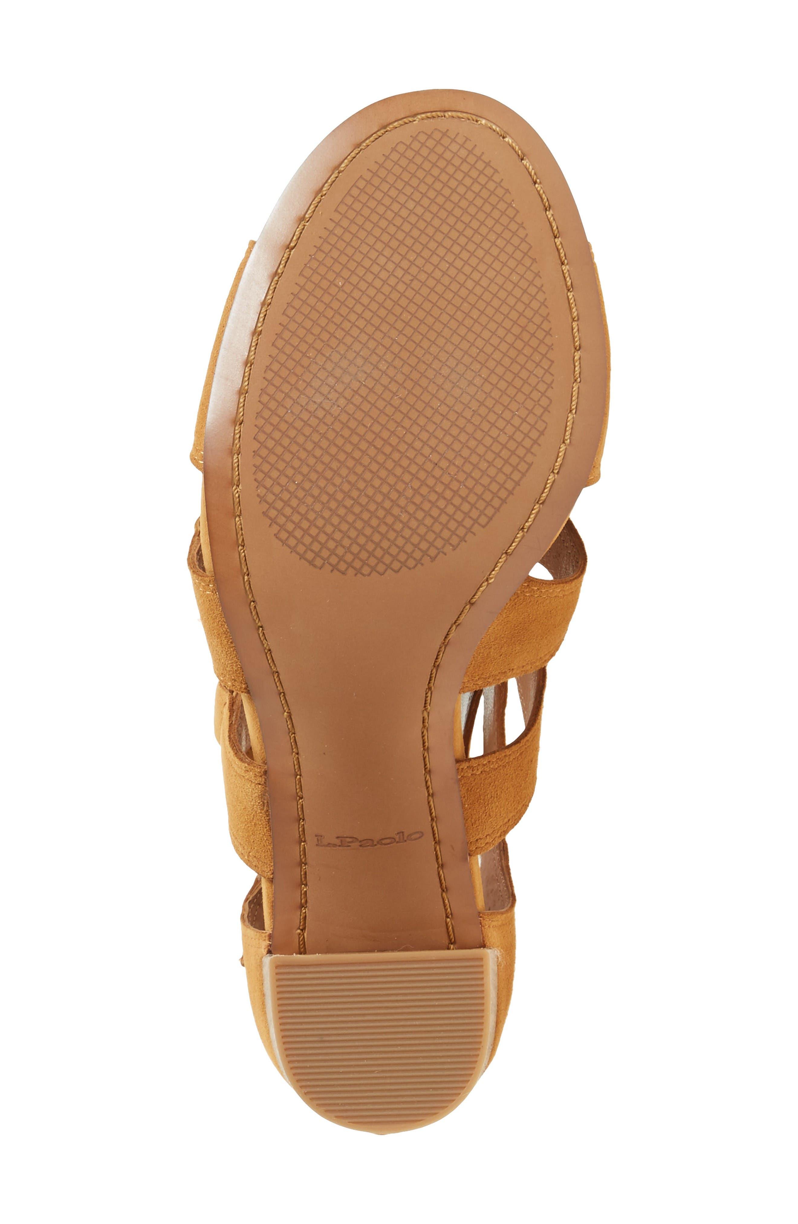 Hawley Cutout Sandal,                             Alternate thumbnail 4, color,                             Cognac Suede
