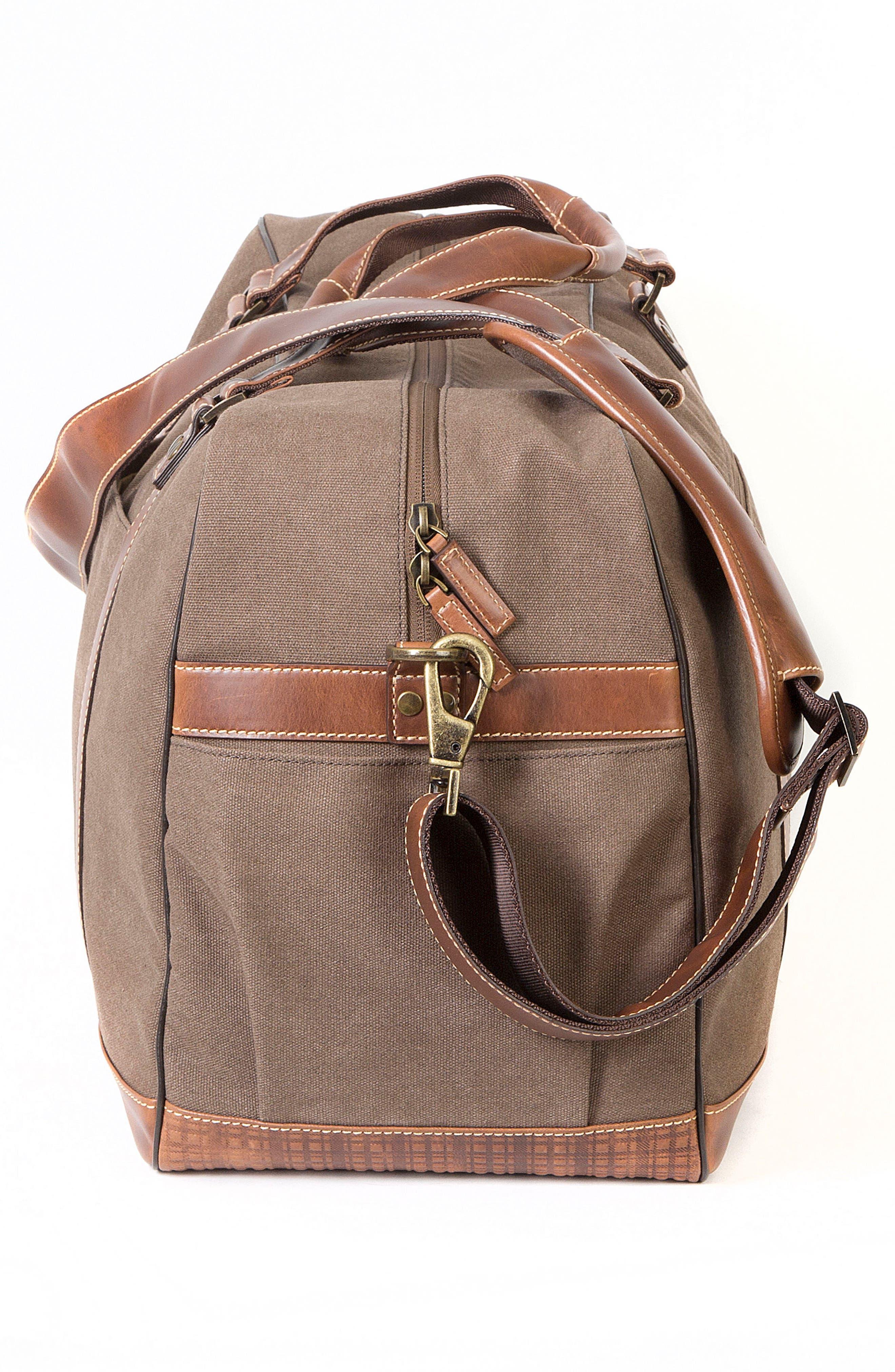 Bryant LTE Getaway Duffel Bag,                             Alternate thumbnail 4, color,                             Antique Mahogany/ Brown