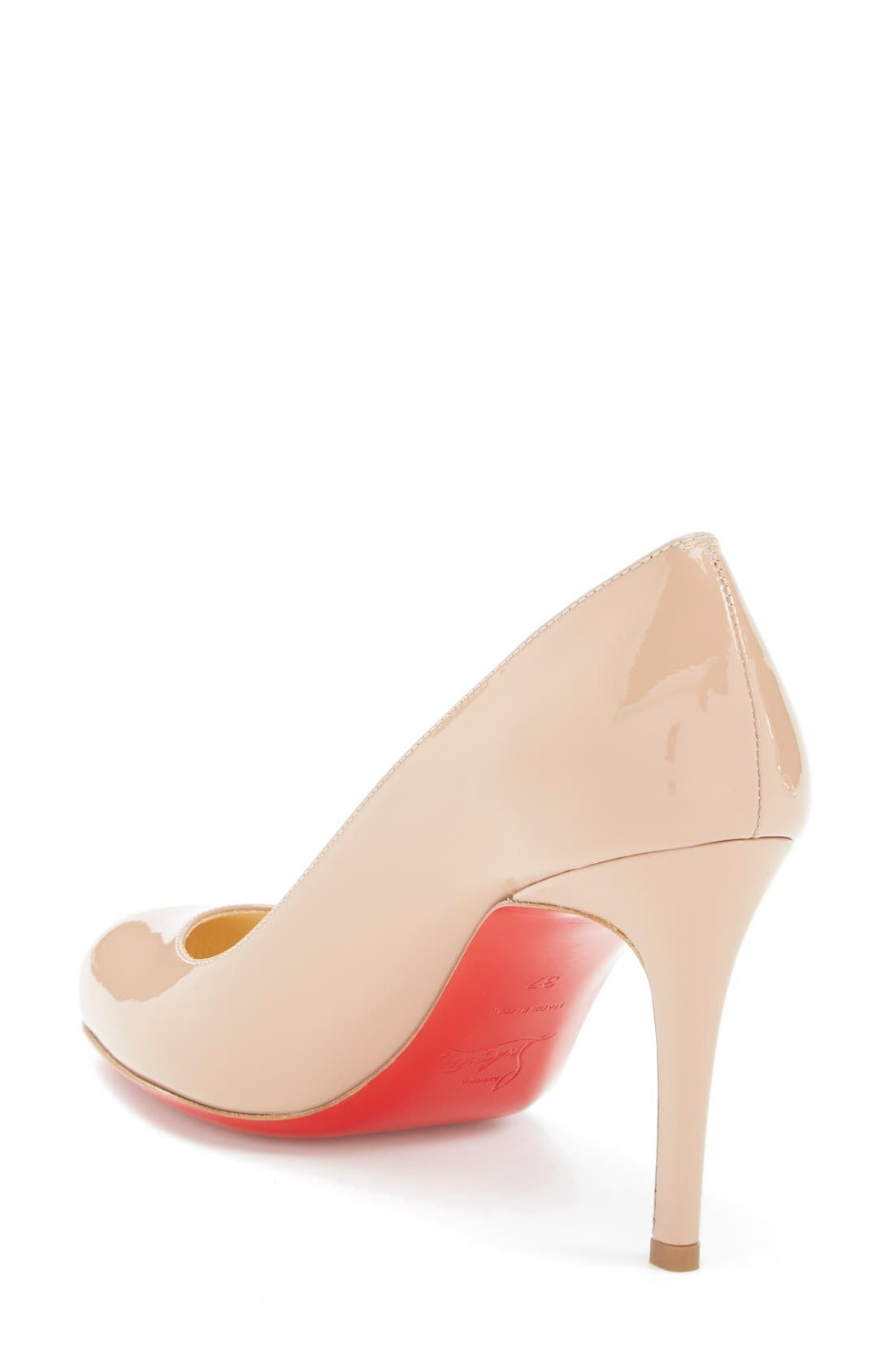 Simple Pump,                             Alternate thumbnail 2, color,                             Nude Patent