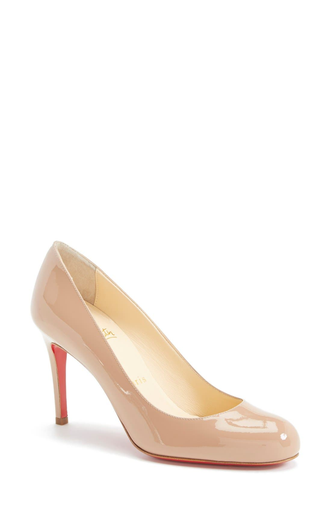 Simple Pump,                             Main thumbnail 1, color,                             Nude Patent