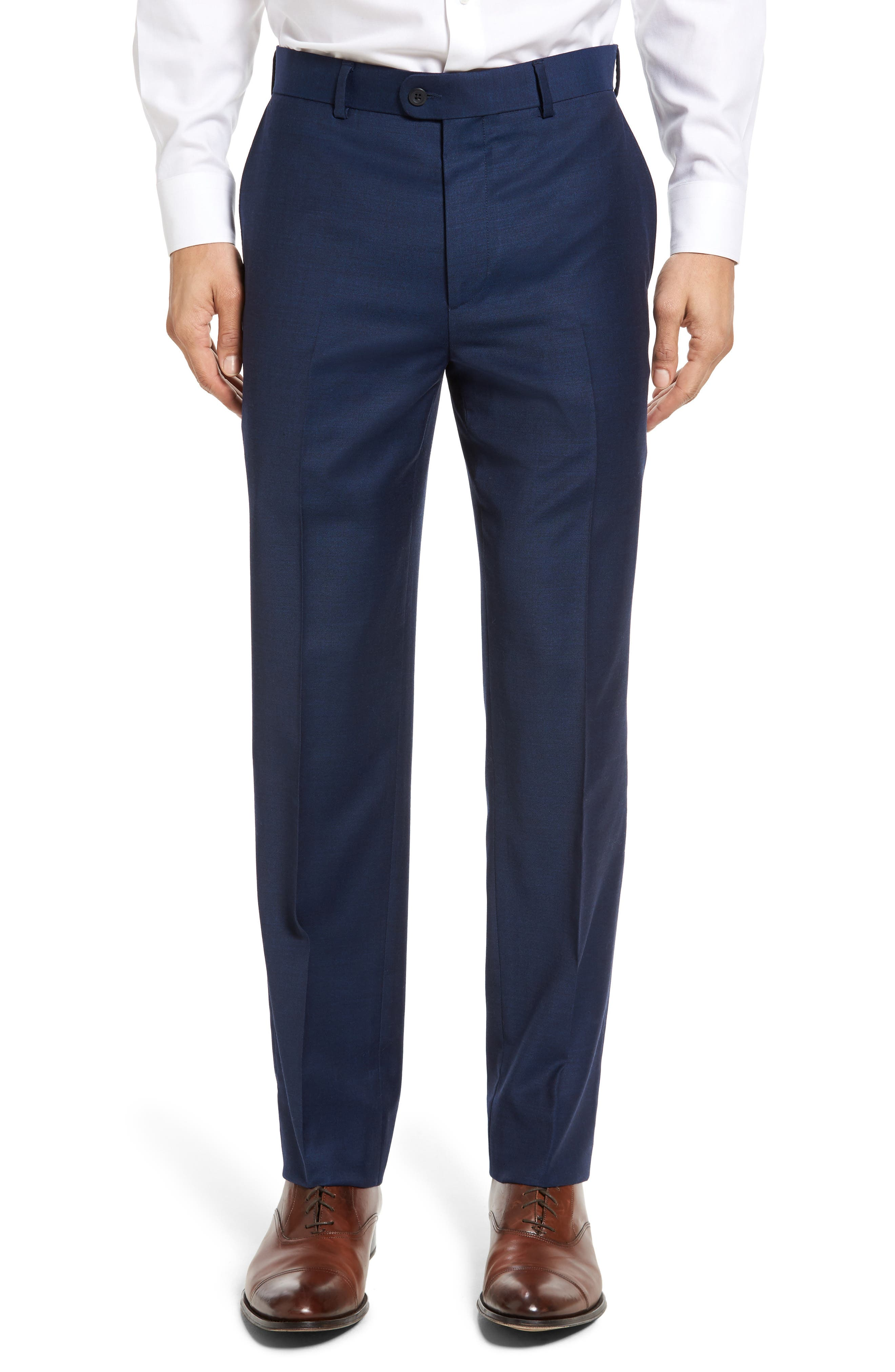 Bensol Gab Trim Fit Flat Front Pants