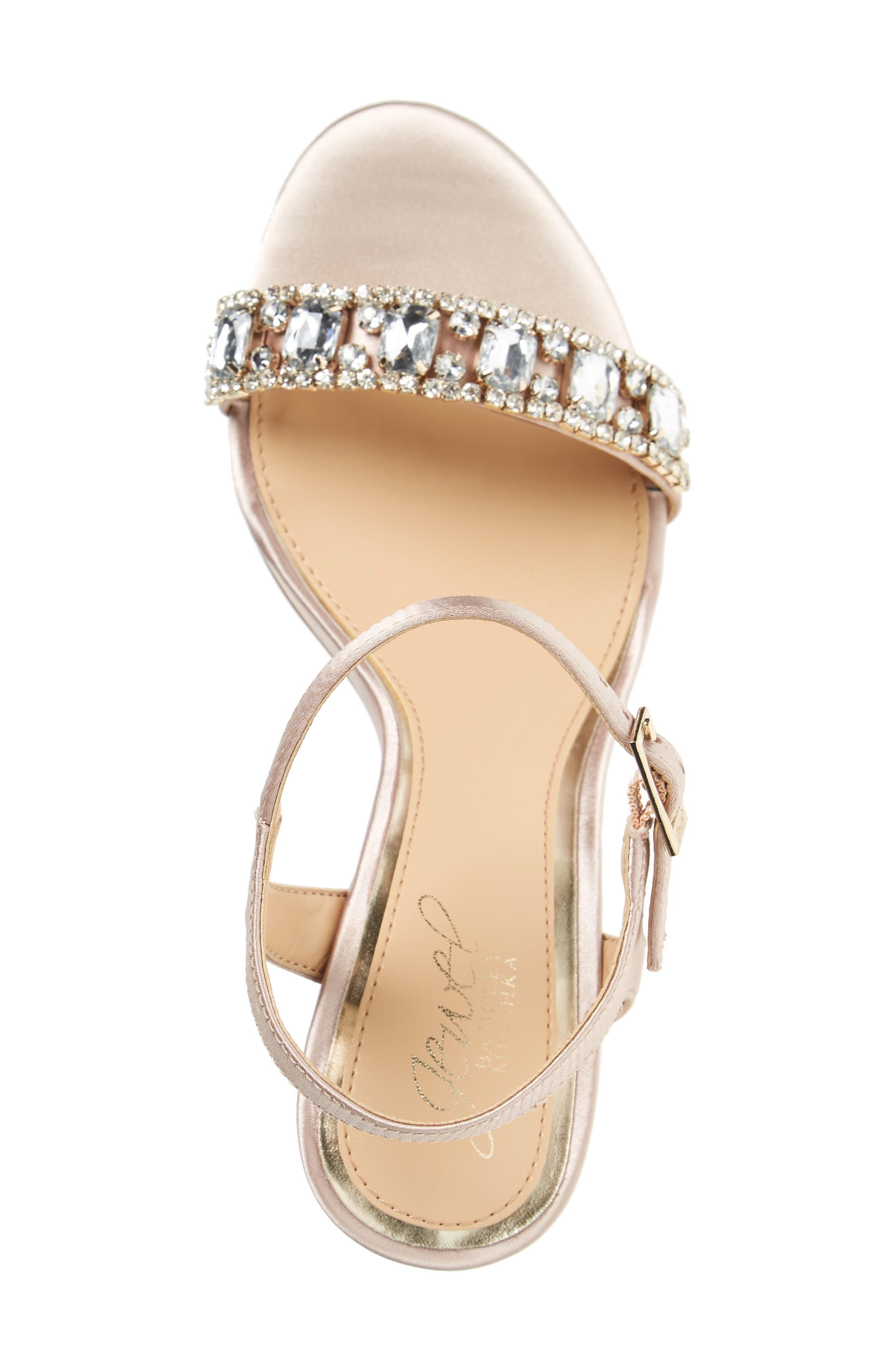 Alternate Image 3  - Jewel Badgley Mischka Hendricks Embellished Block Heel Sandal (Women)