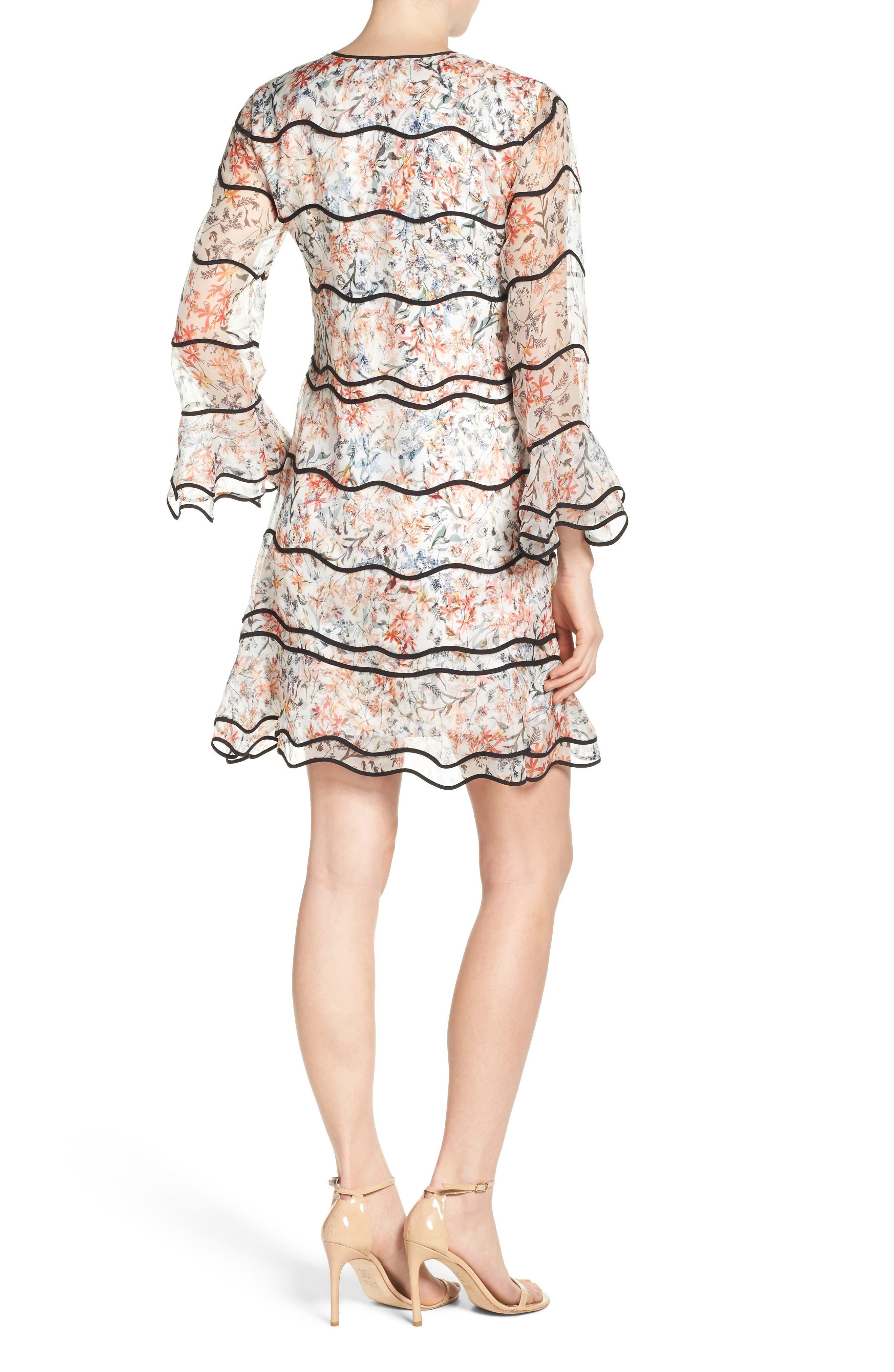 Svetlana Silk Trapeze Dress,                             Alternate thumbnail 2, color,                             Ivory