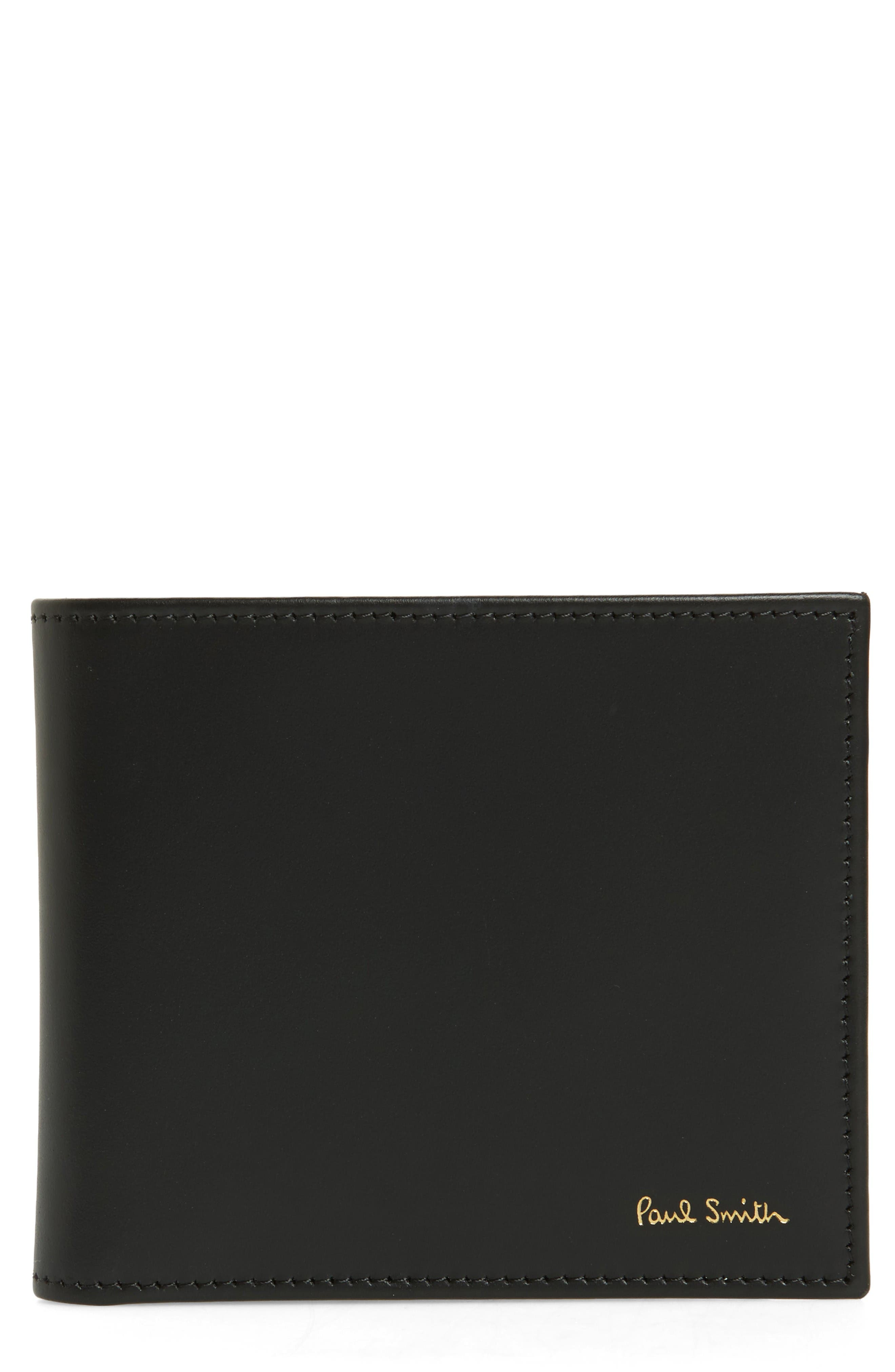 PAUL SMITH Multistripe Calfskin Leather Billfold