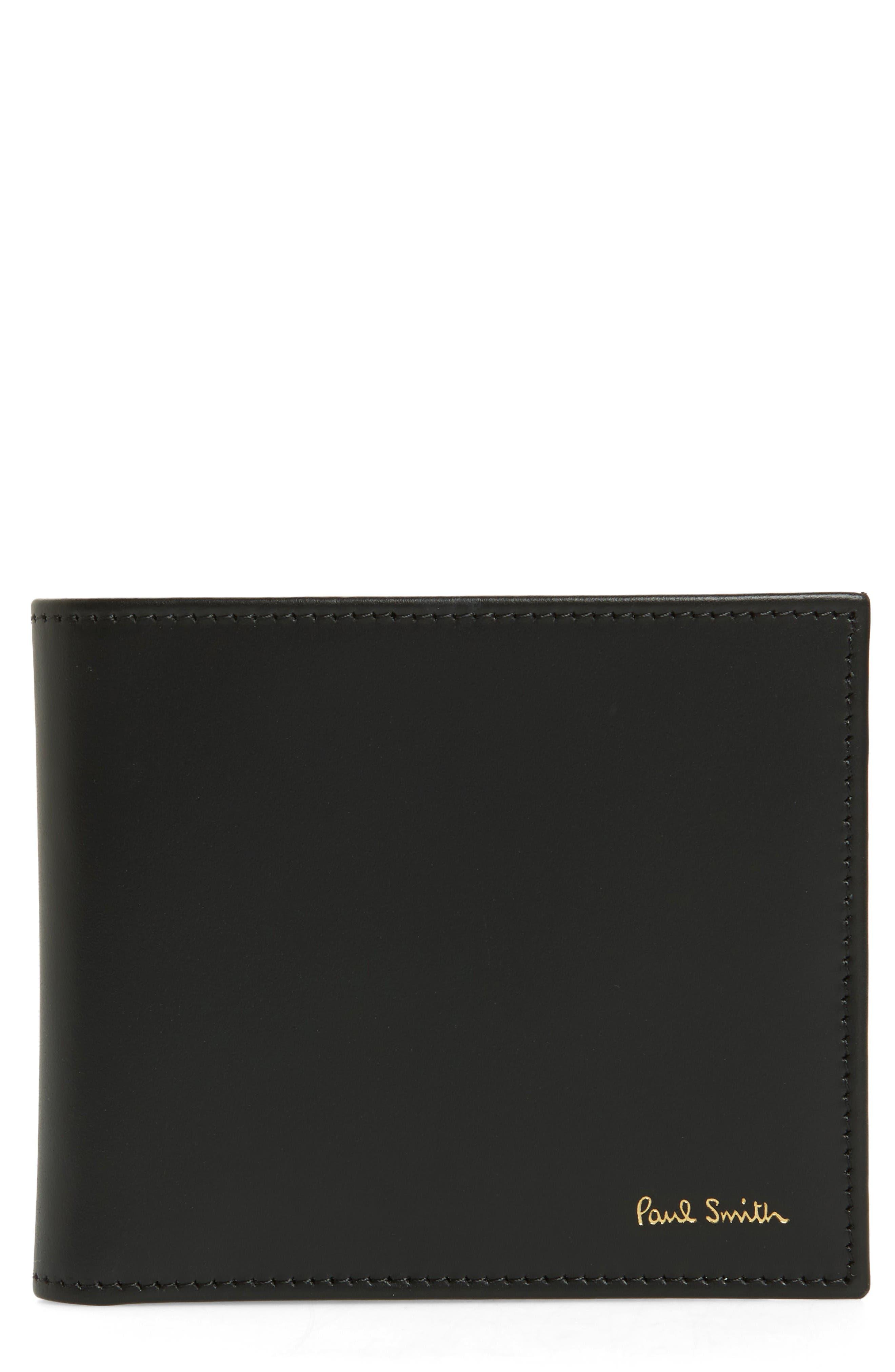 Paul Smith Multistripe Calfskin Leather Billfold