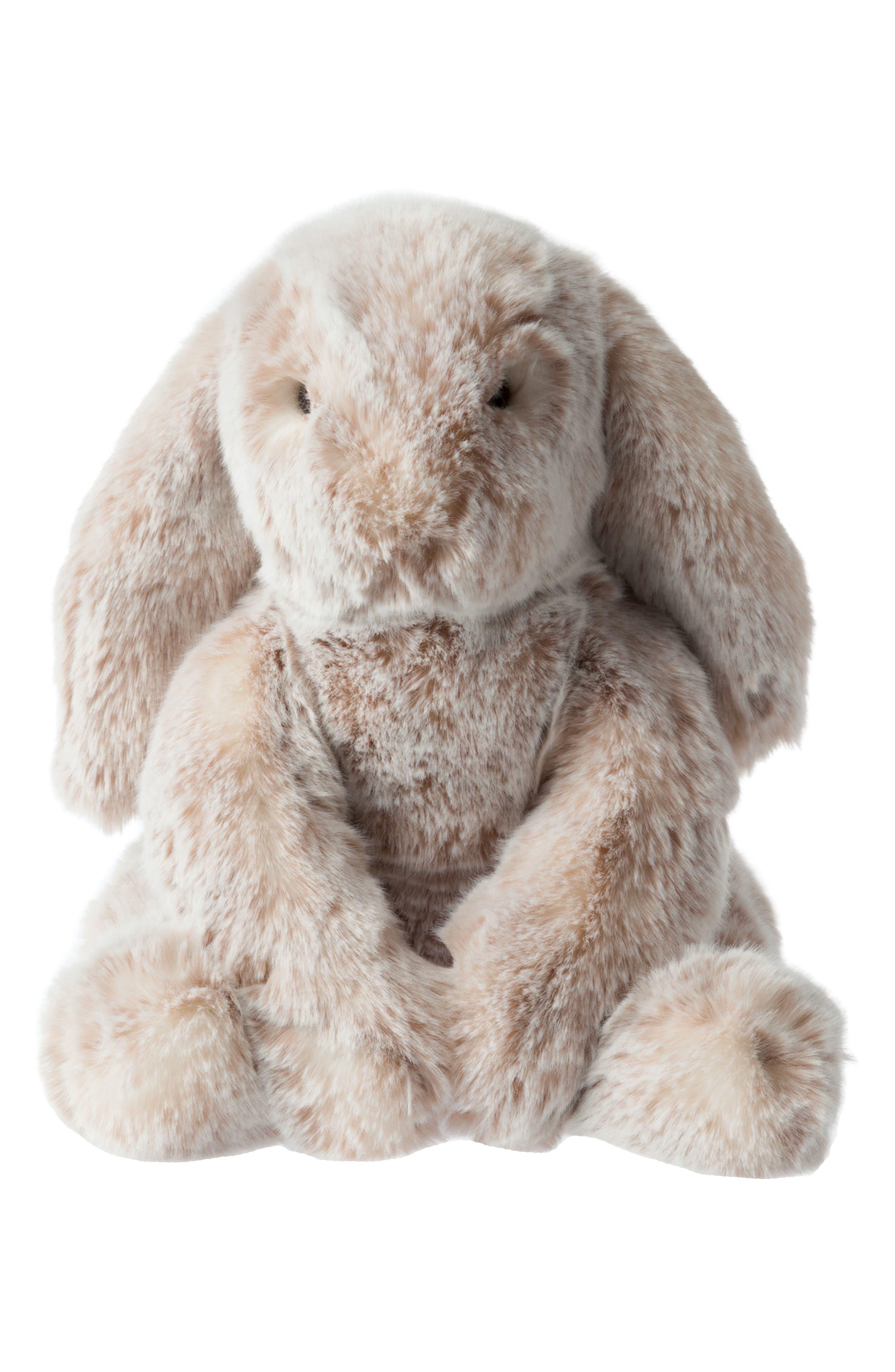 Luxe Bunny Stuffed Animal,                         Main,                         color, Brown