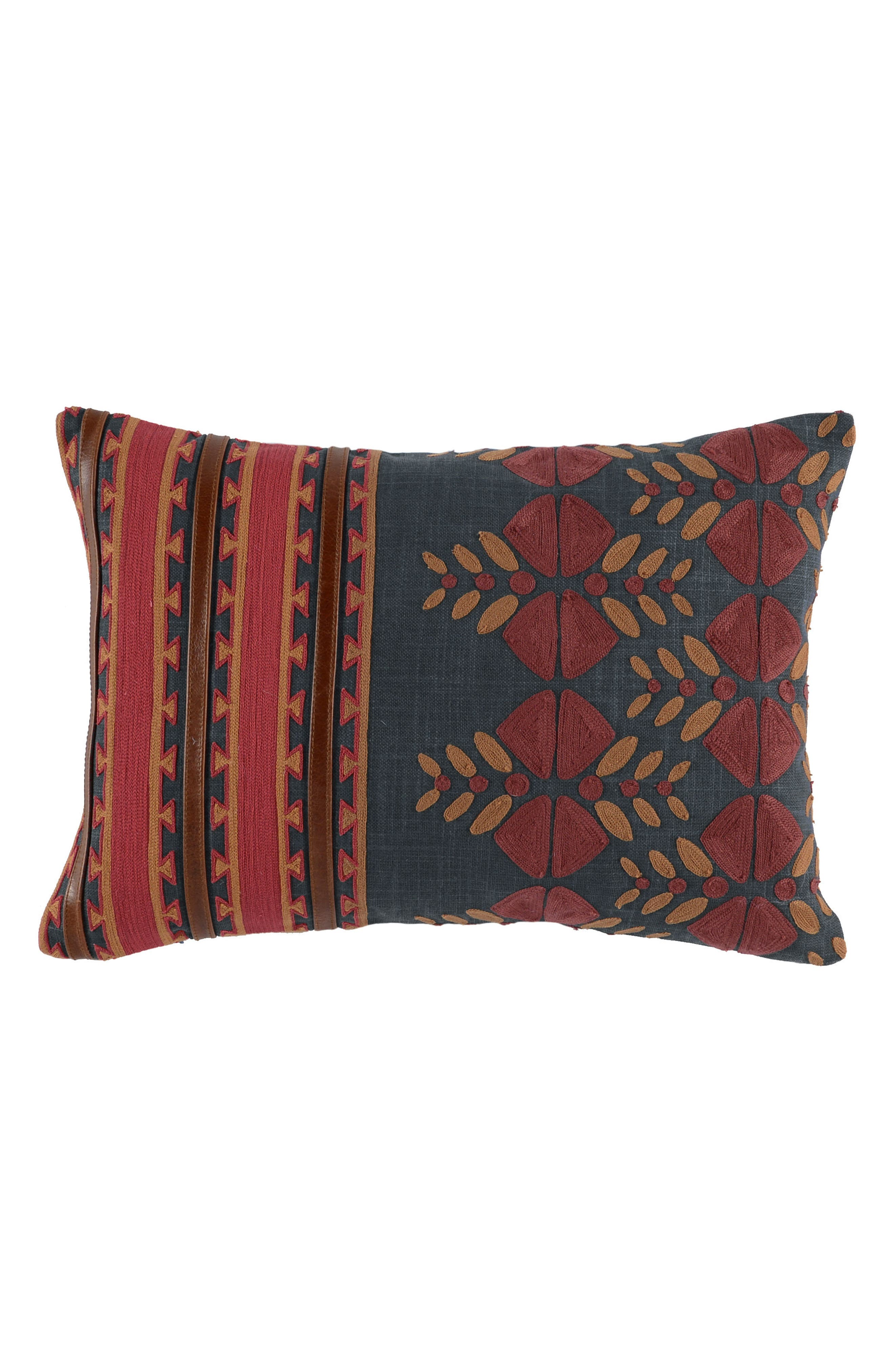 Kaleta Accent Pillow,                             Main thumbnail 1, color,                             Red/ Navy